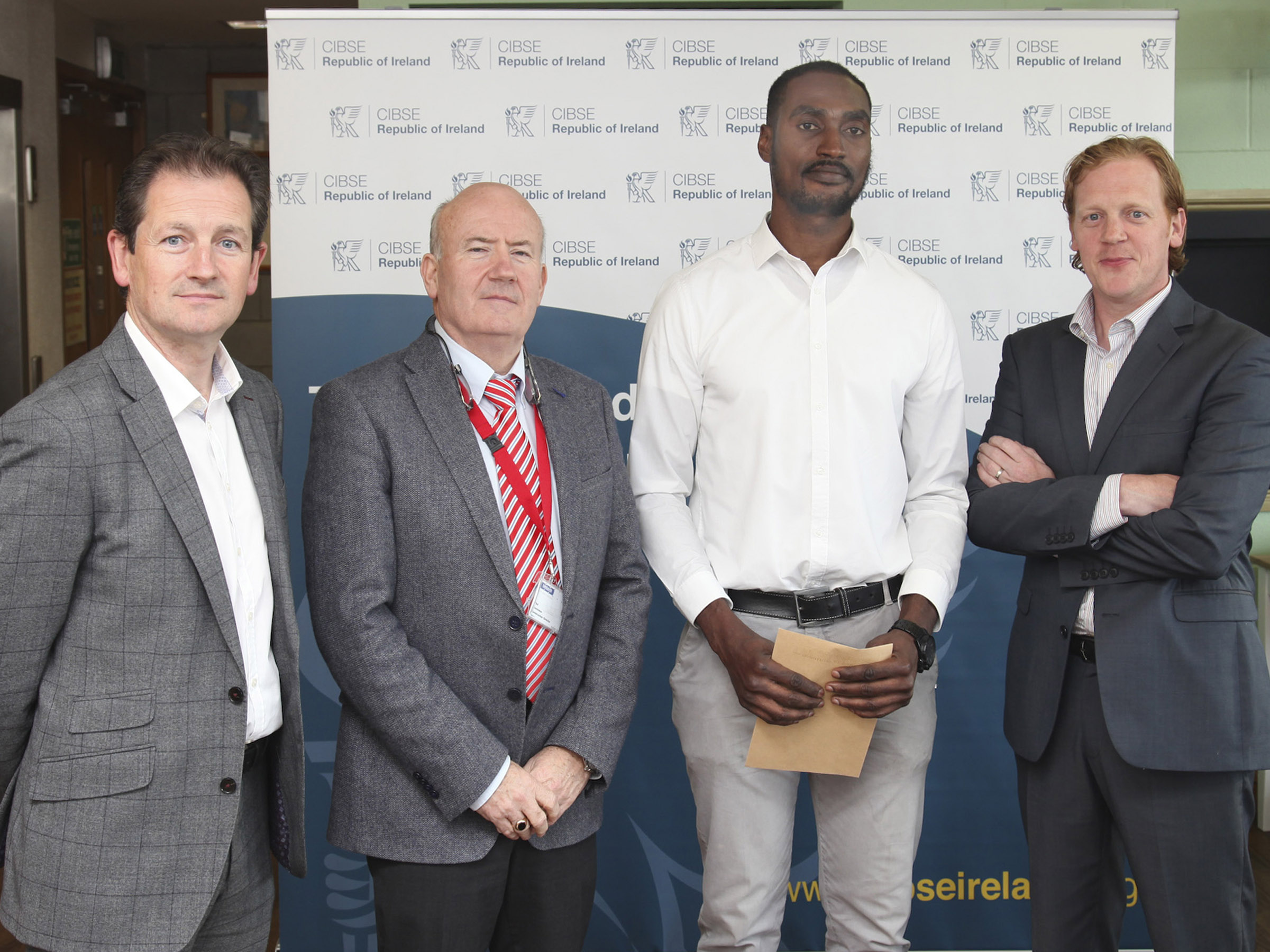 "The CIBSE Award went to student Ekene Micheal Gbanite for his research project entitled ""Feasibility of on-farm anaerobic co-digestion of food waste and pig manure for electricity generation and district heating in a rural community in the south east"". Photo: George Goulding"