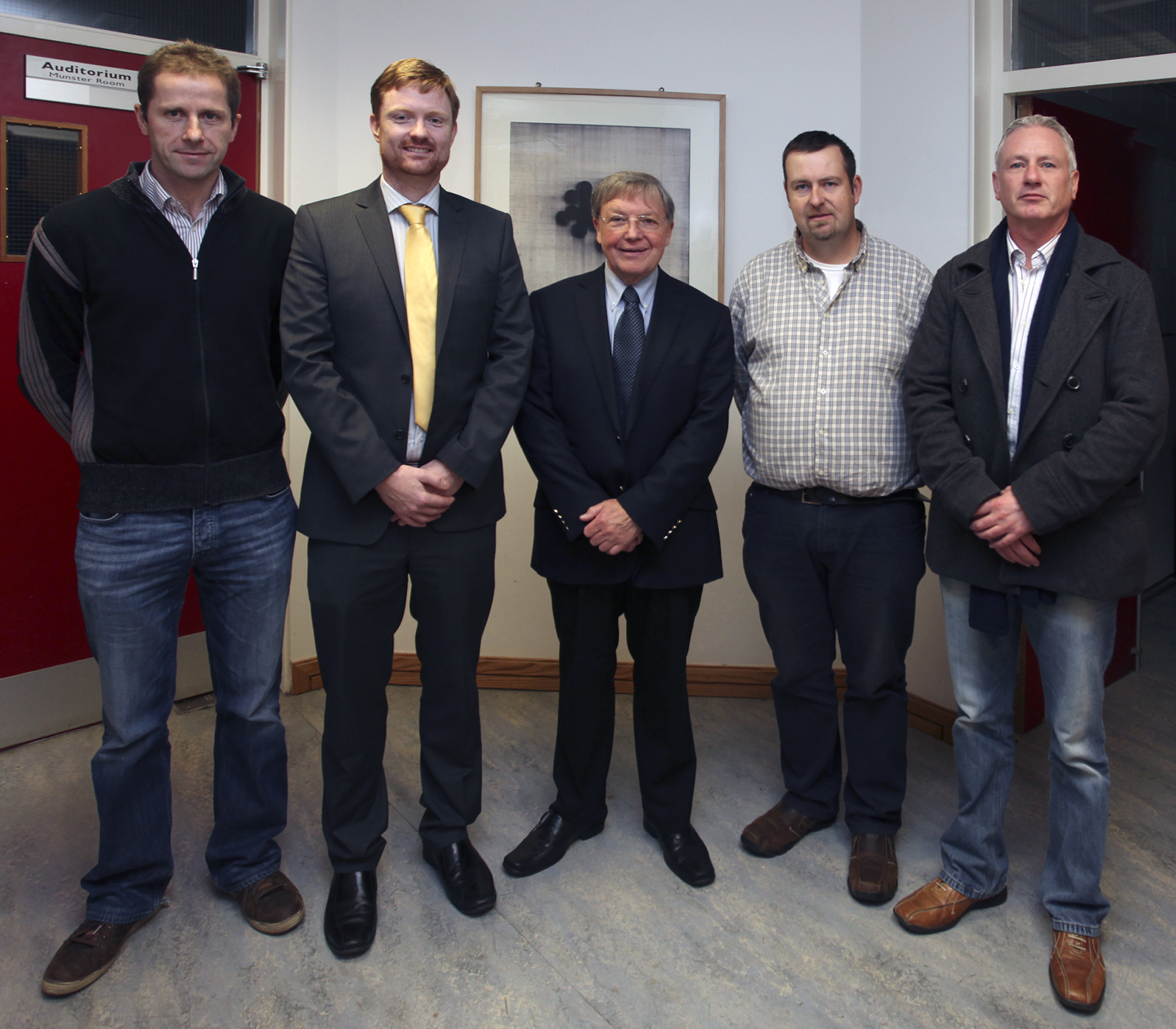 Pictured (L - R): Mr. Colm Tynan, Dr Derek Sinnott, Dr Ken Whelan, Mr. Alan O'Sullivan & Mr. Jason O'Riordan