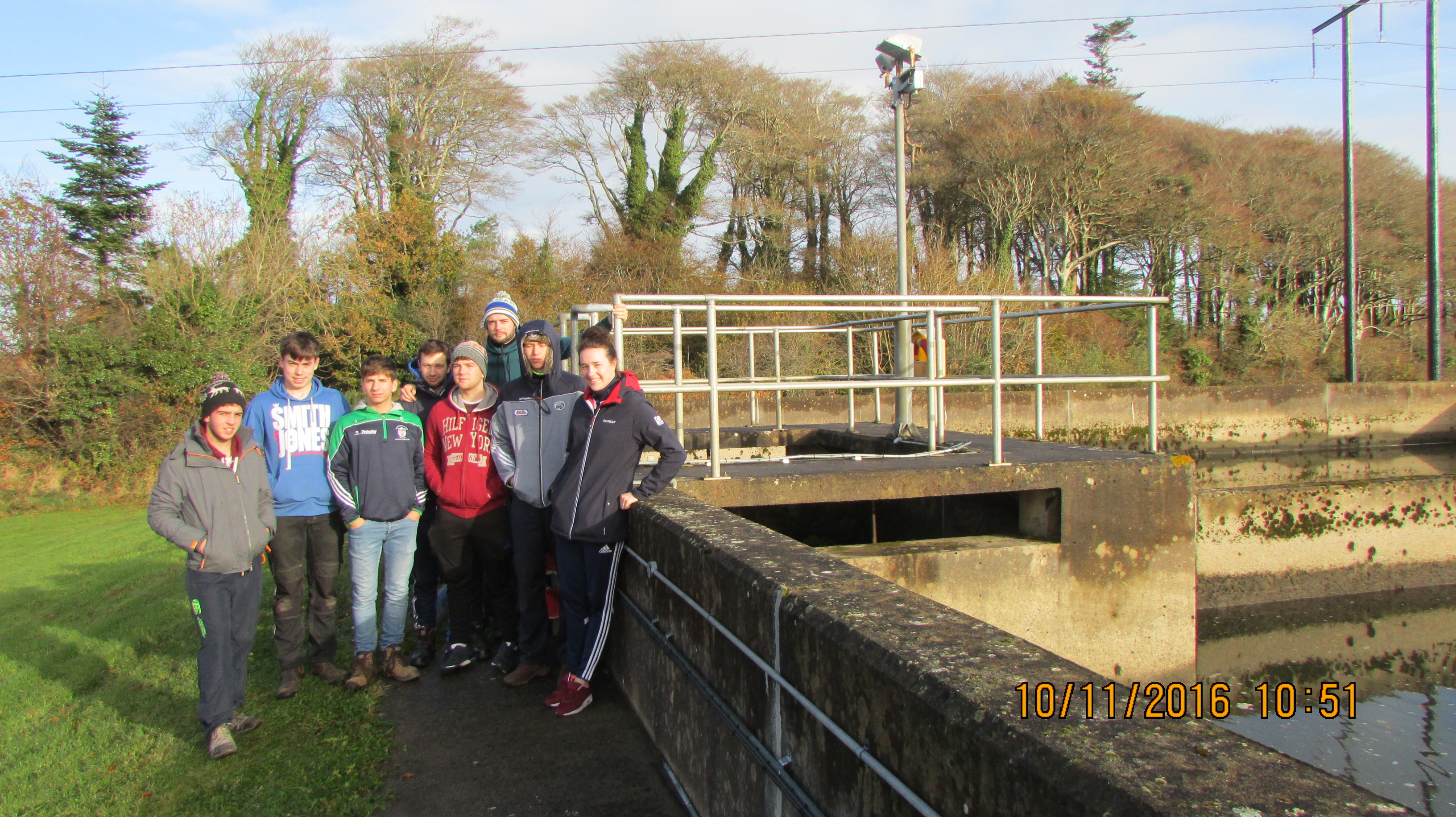 Students from 1st year Building Services Engineering and Civil Engineering