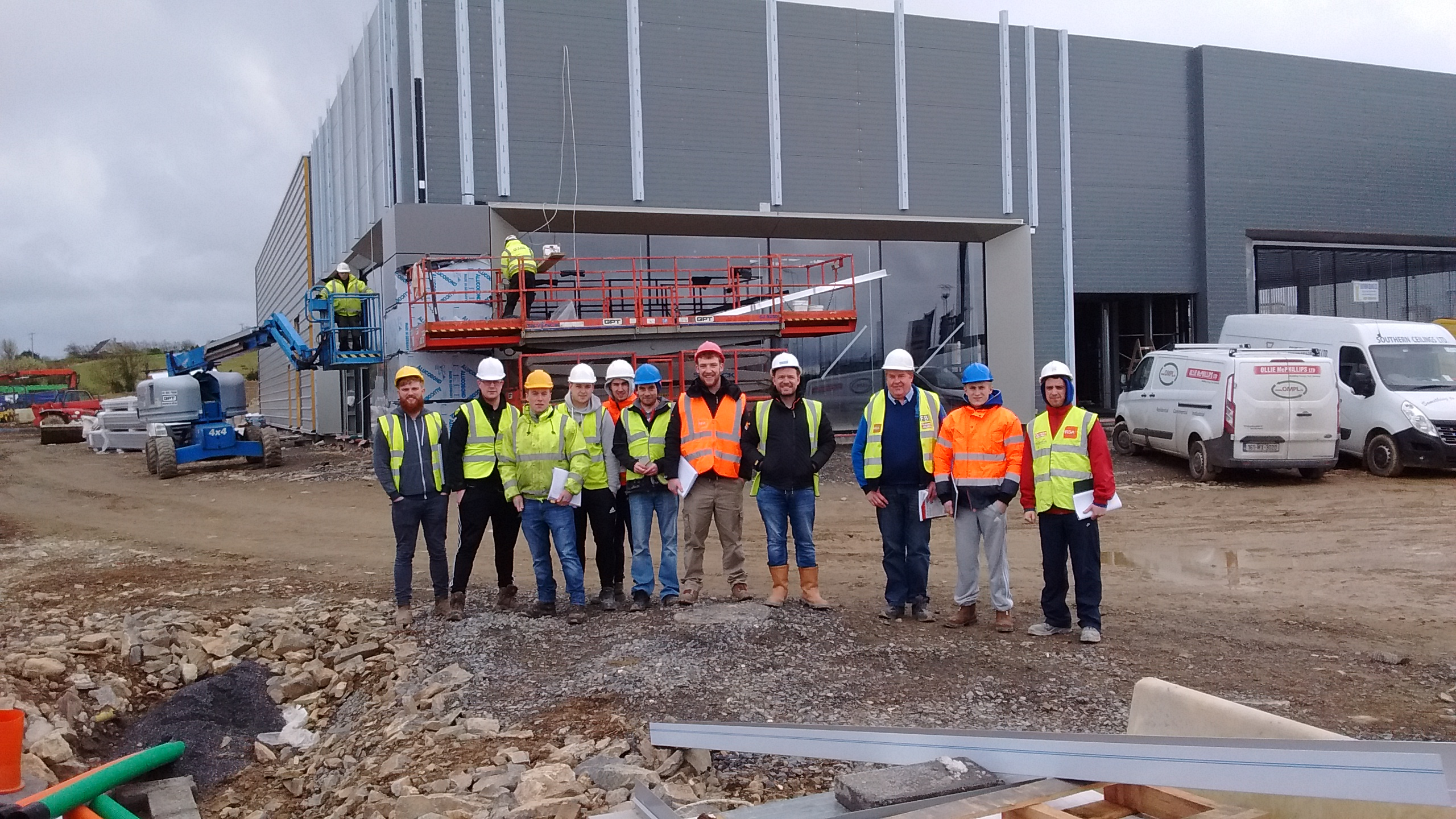 BSc (hons) in Quantity Surveying Staff & Students at the Jaguar Land Rover Site Visit