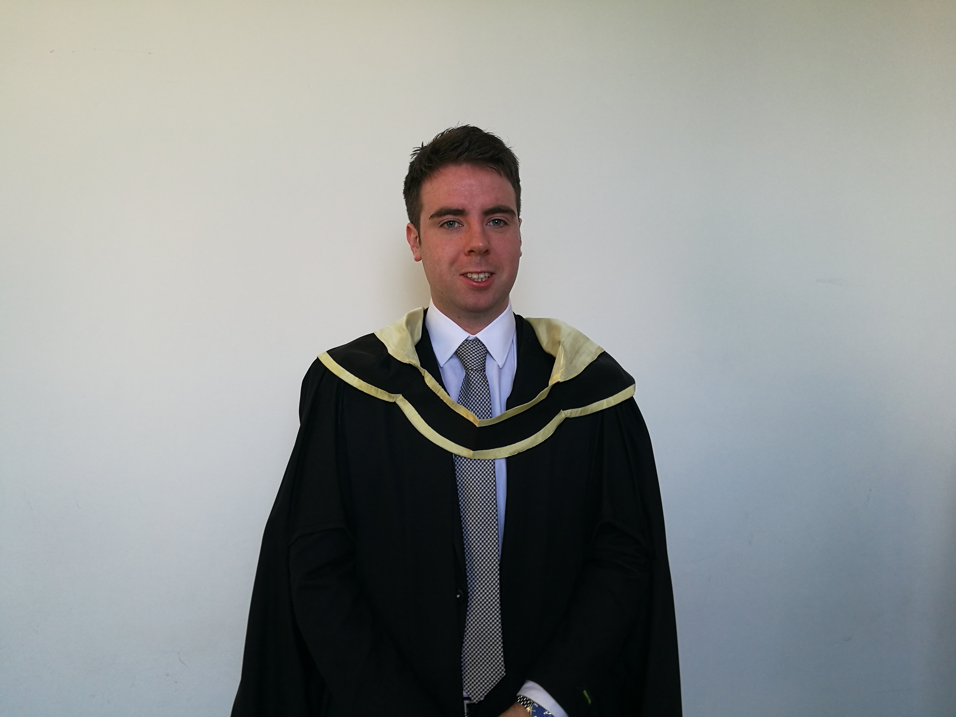 Mark Keenan, MBS Economics & Finance graduate from Longford