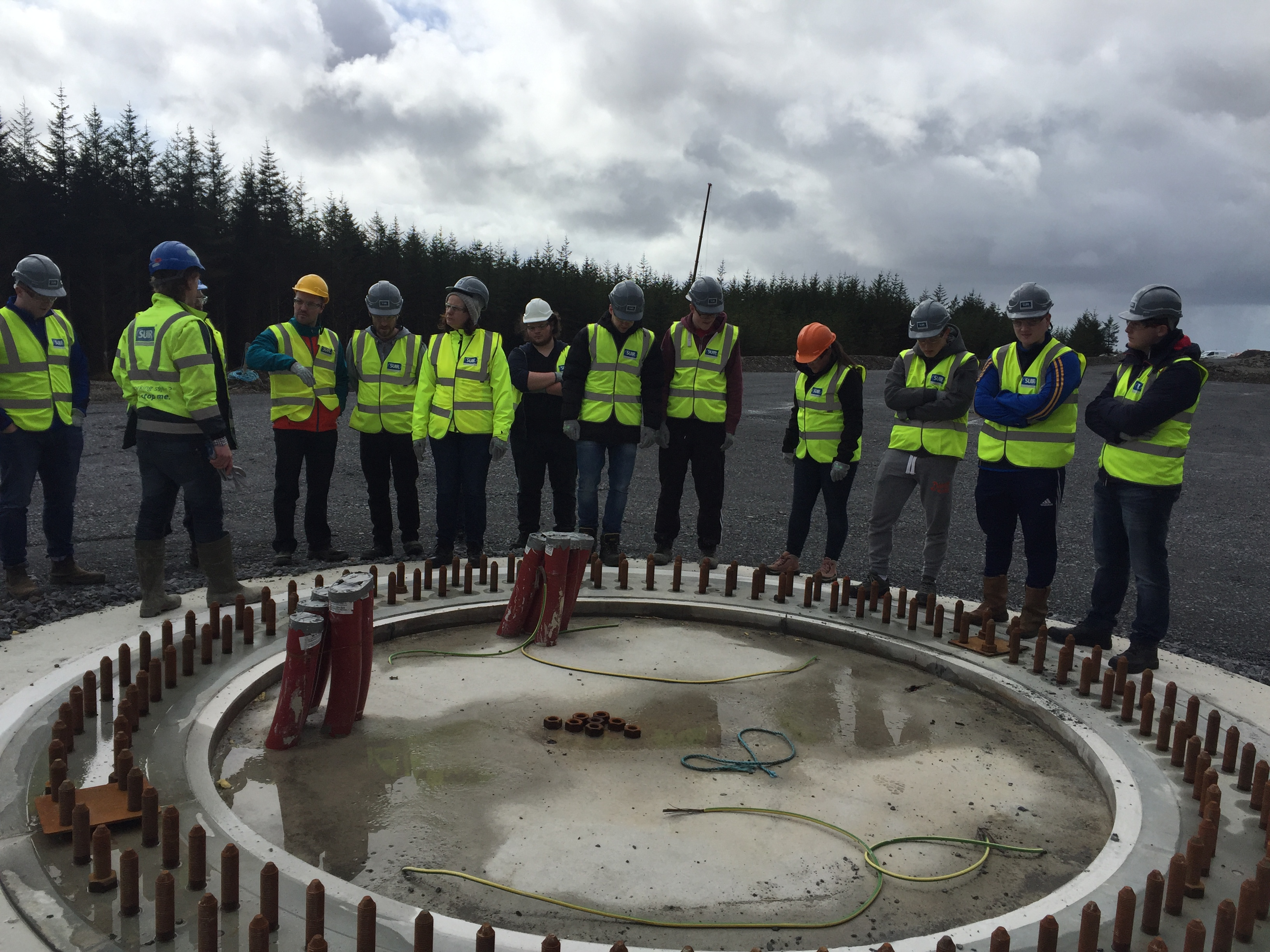 Students from the BEng in Electrical Engineering at WIT recently visited the Slievecallan Wind Farm Development in Co. Clare