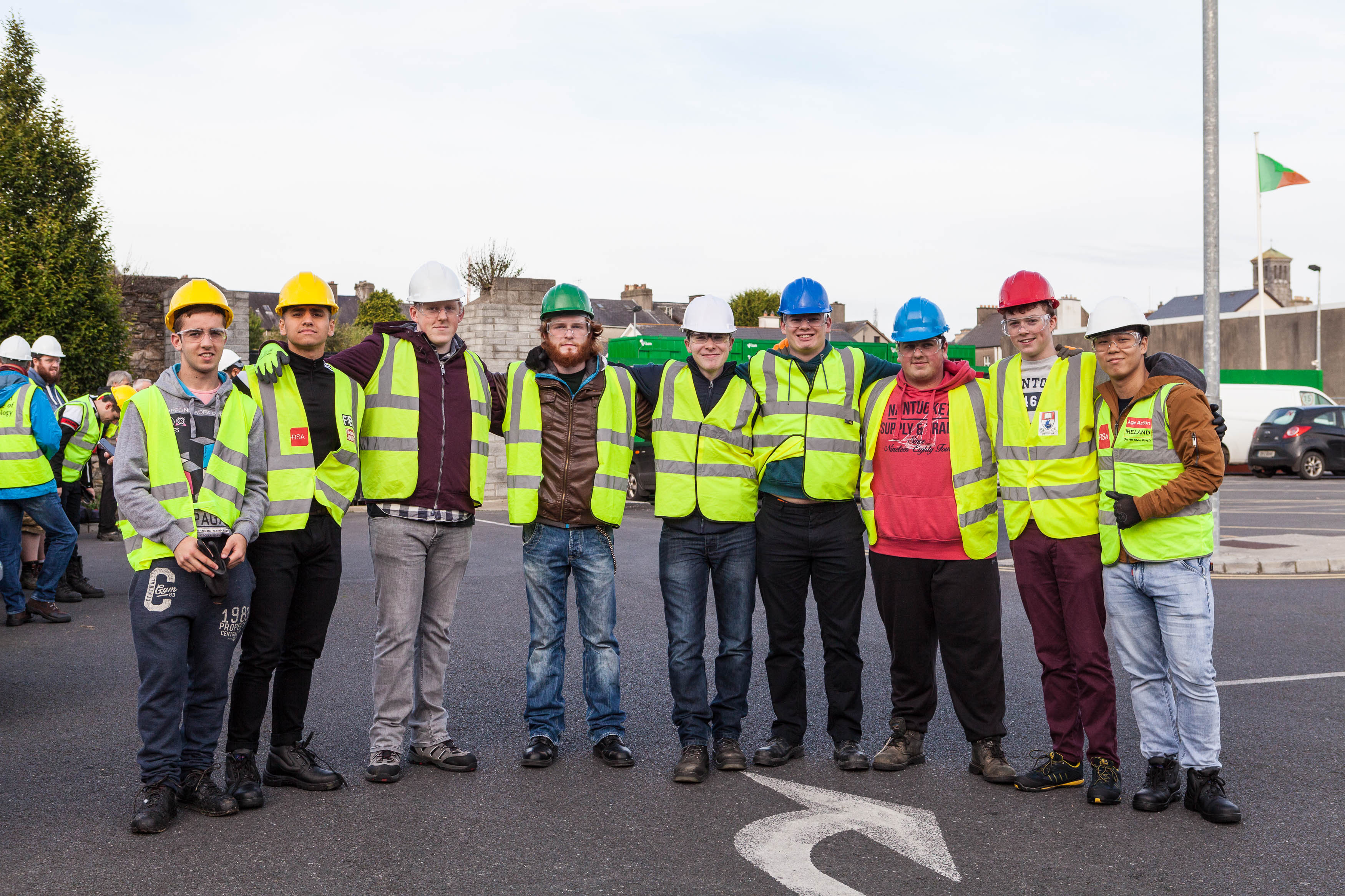 First year Civil Engineering students on Waterford Courthouse BAM site visit.