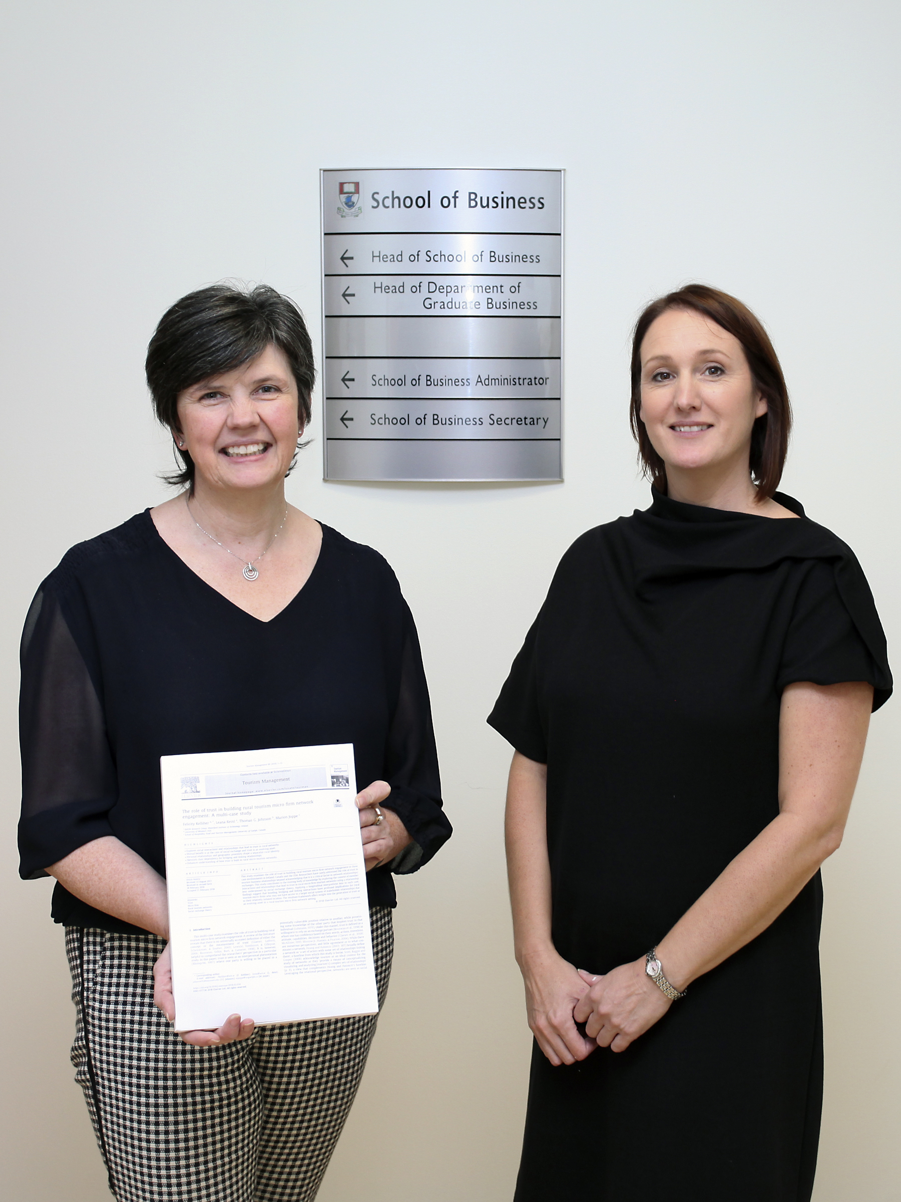 Pictured from left: Dr Felicity Kelliher and Dr Leana Reinl
