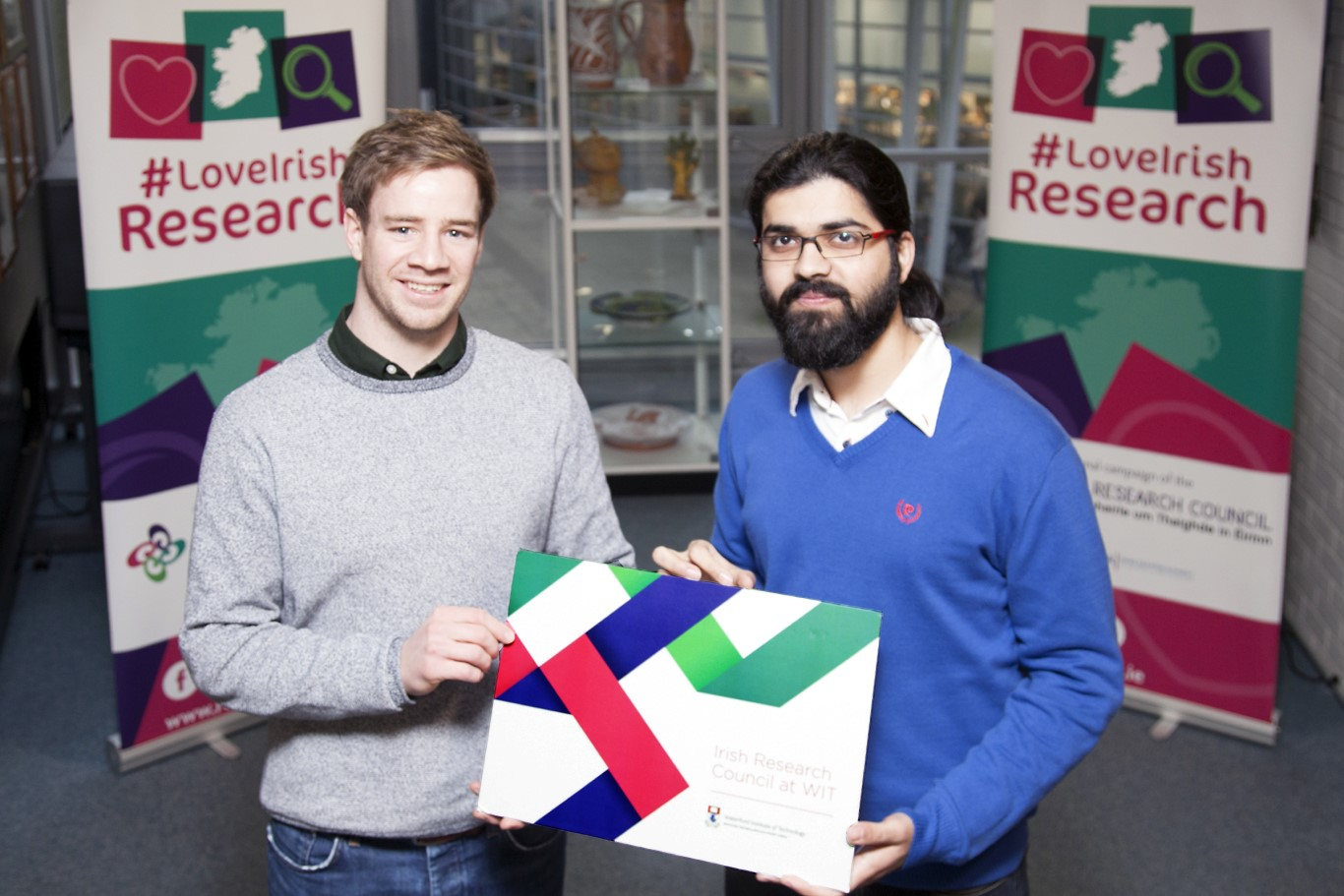 Pictured far right at the Irish Research Council funding announcement is WIT researchers Arthur Dunne and Ashutosh Sharma