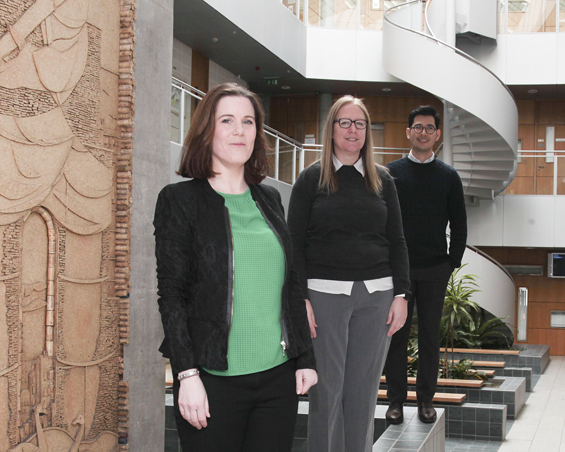 Pictured from left are: Madeline Treacy, Norah Storey and Sarn-II Baru, the three successful WIT recipients of the Irish Research Council Enterprise Partnership Scheme Awards