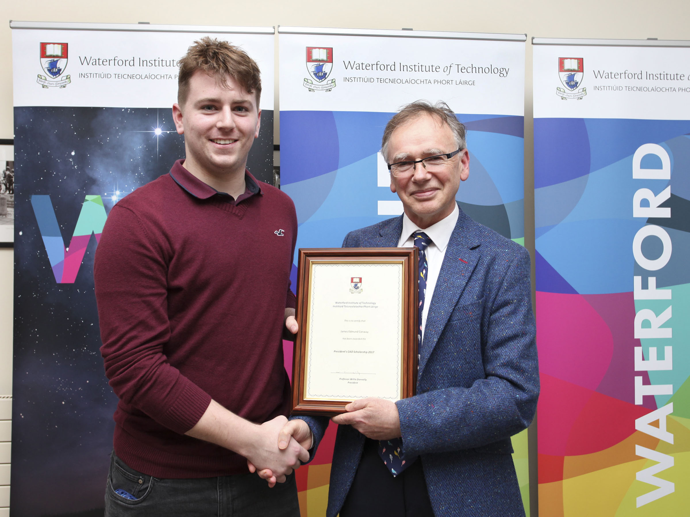 Agricultural Science student James is one of five President's Scholarship recipients for 2017
