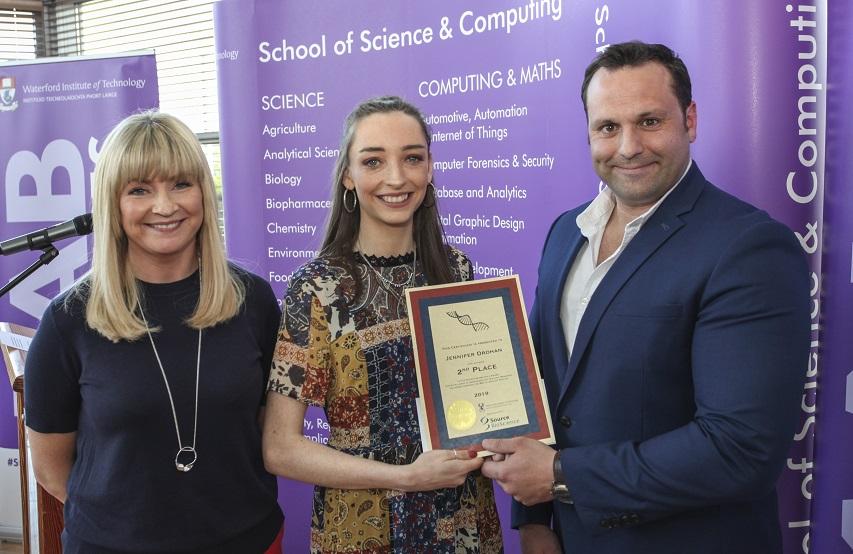 Dr Audrey Hearne (WIT), Jennifer Drohan, John Calvo (Source BioScience)