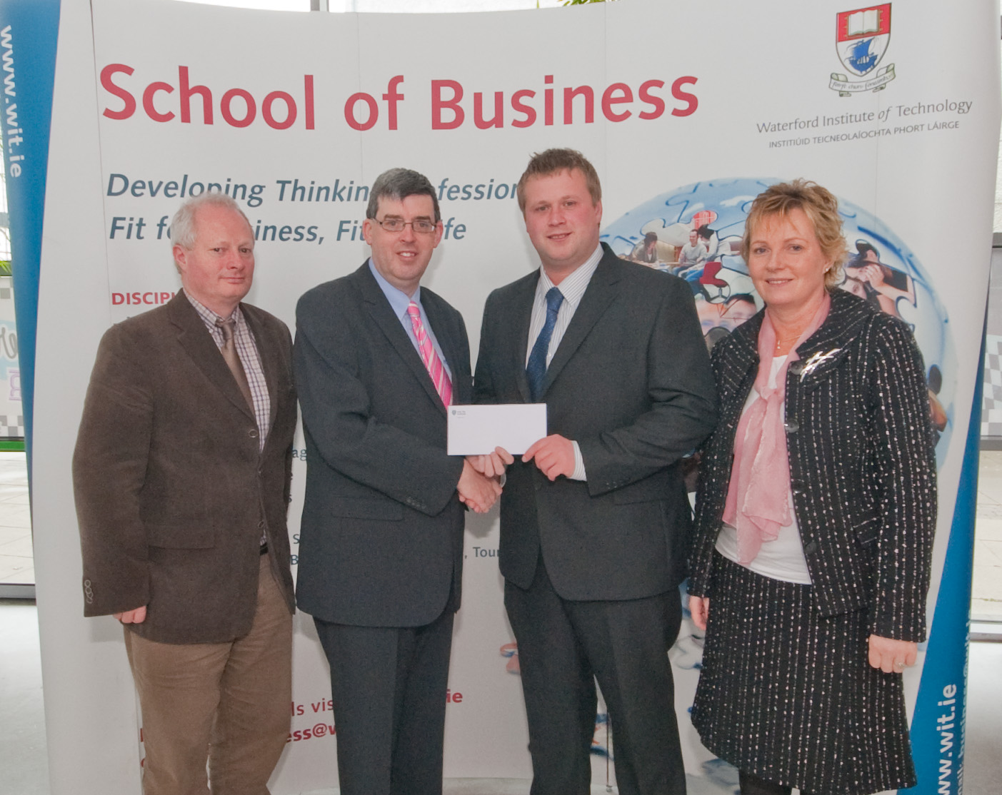 Pictured: John Greene receiving the Institute of Taxation Award from Ger Long, School of Business WIT