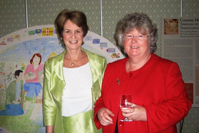 Reiltín Murphy (R) pictured with Kathleen Kennedy Townsend.