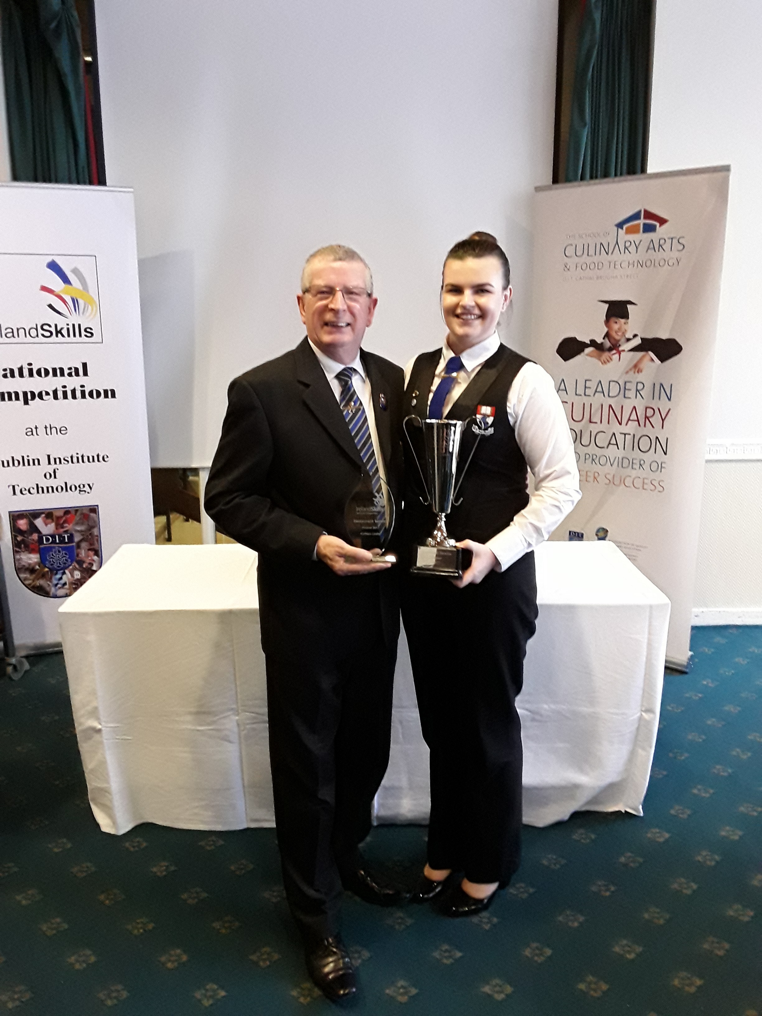 Pictured are Kathlyn and Head of Department, Ray Cullen