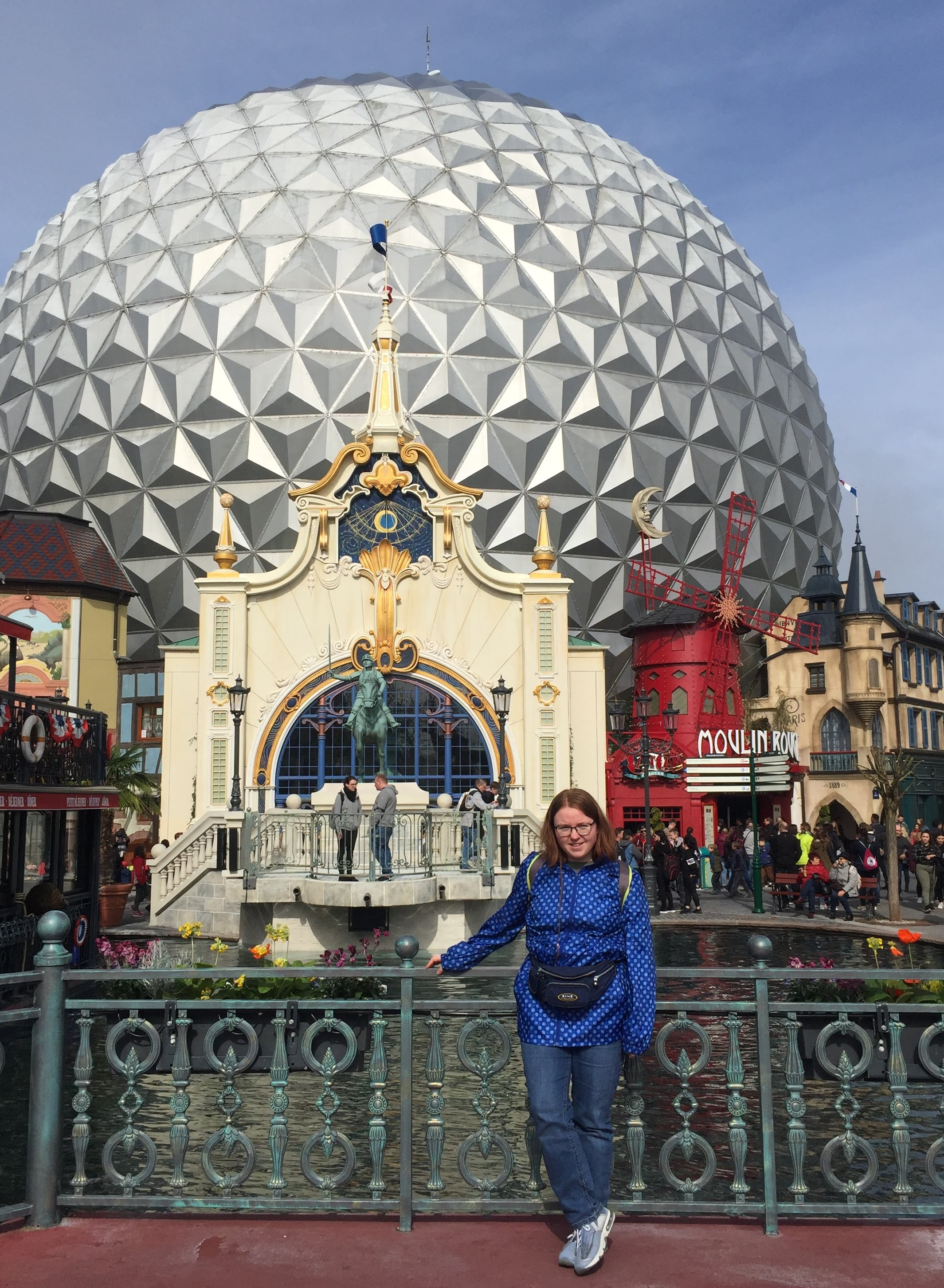 Kelly in Europa-Park in Germany