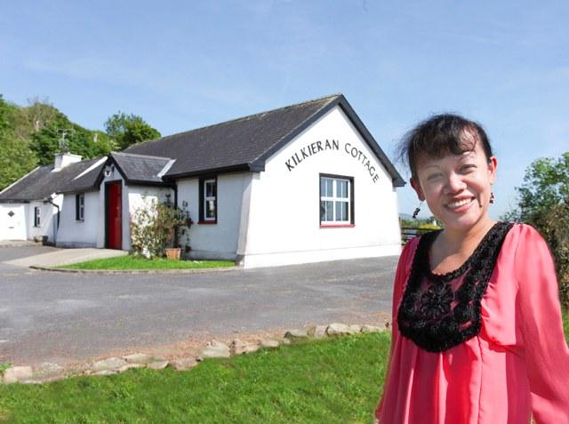Ade Walsh, Restaurant Management Graduate, pictured outside her premises Kilkieran Cottage