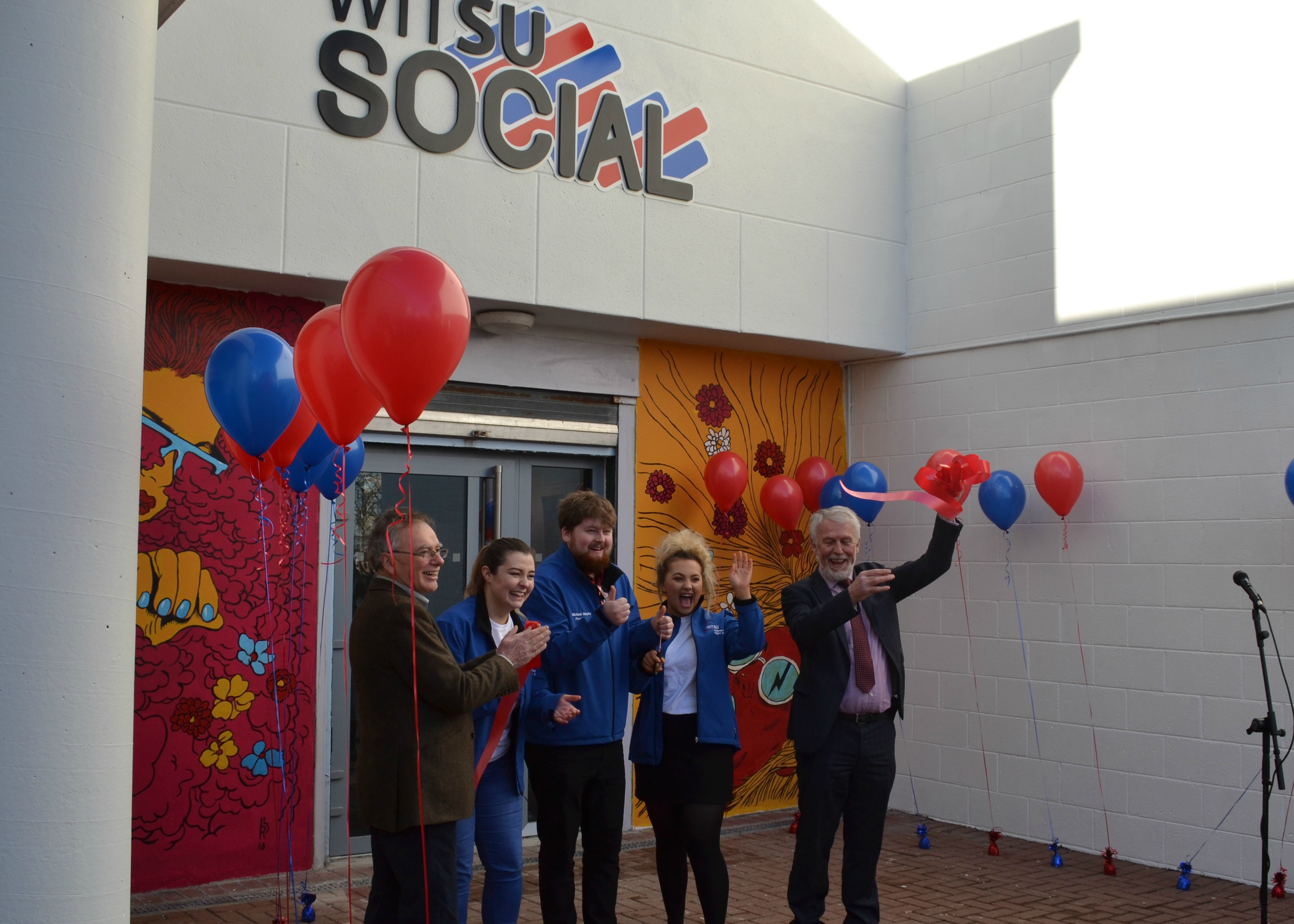 Pictured from left are President of WIT, Willie Donnelly, WITSU Education Officer, Marie Sheedy, WITSU President, Michael Murphy, WITSU Welfare Officer, Celine Casey and Chairperson of the Governing Body of WIT, Jim Moore at the WITSU Social launch