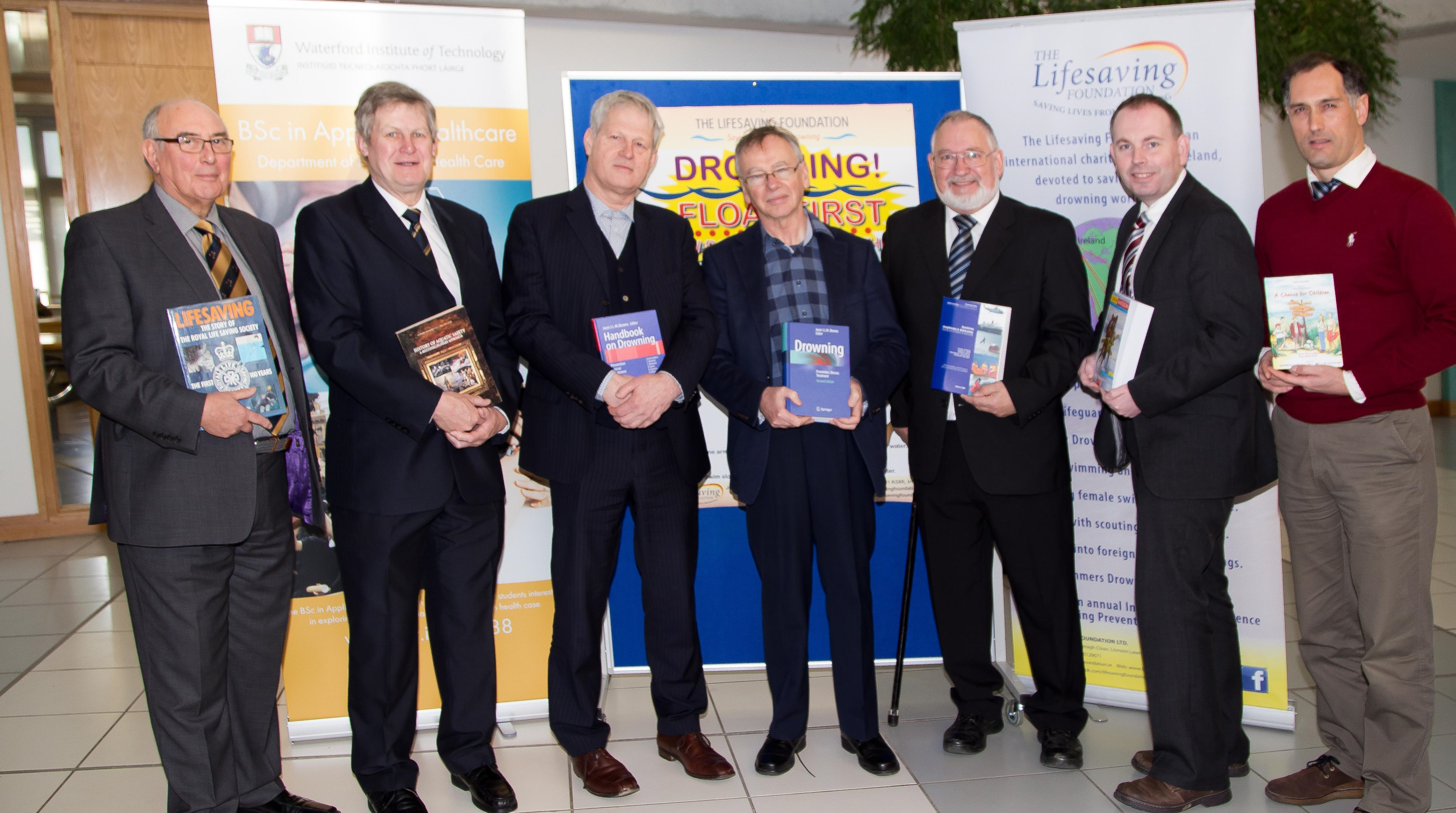 The Lifesaving Foundation presented a large number of drowning books to WIT Library as the start of a major drowning research resource.