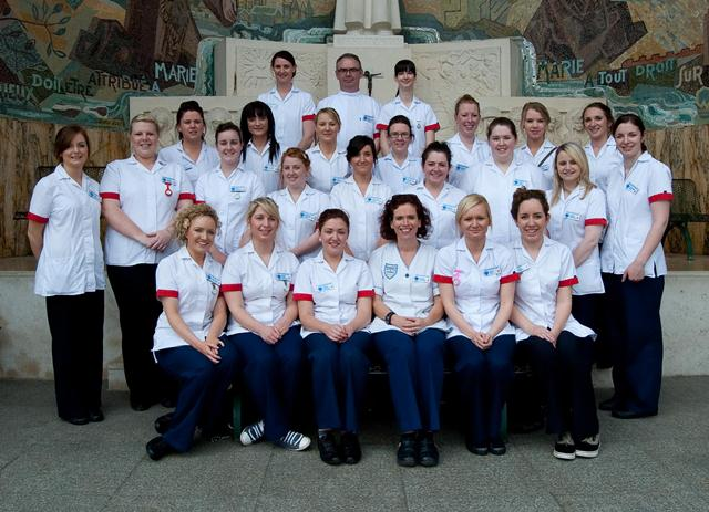Year 3 General Nursing Students who accompanied the Lismore 2012 pilgrims to Lourdes. Photo taken by John Power