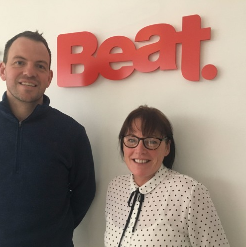 Pictured at Beat are Conor Phelan and Mary McGrath