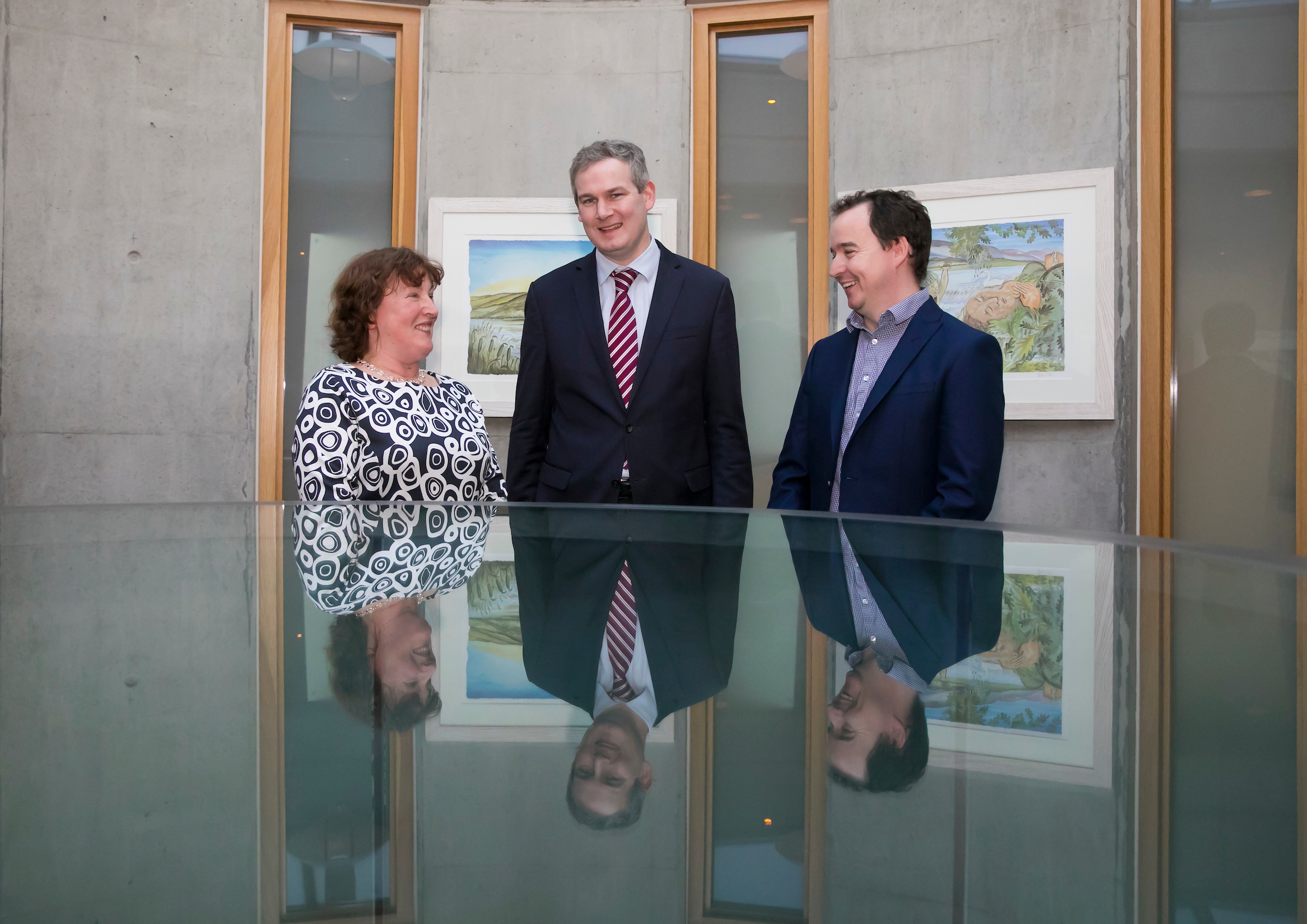 Pictured from left are Dean of Humanities, Dr Suzanne Denieffe, Minister Seán Kyne TD (Government Chief Whip and Minister of State for Gaeilge, the Gaeltacht and the Islands) and Dr Séamus Dillon of WIT's Department of Languages, Tourism and Hospitality (School of Humanities)