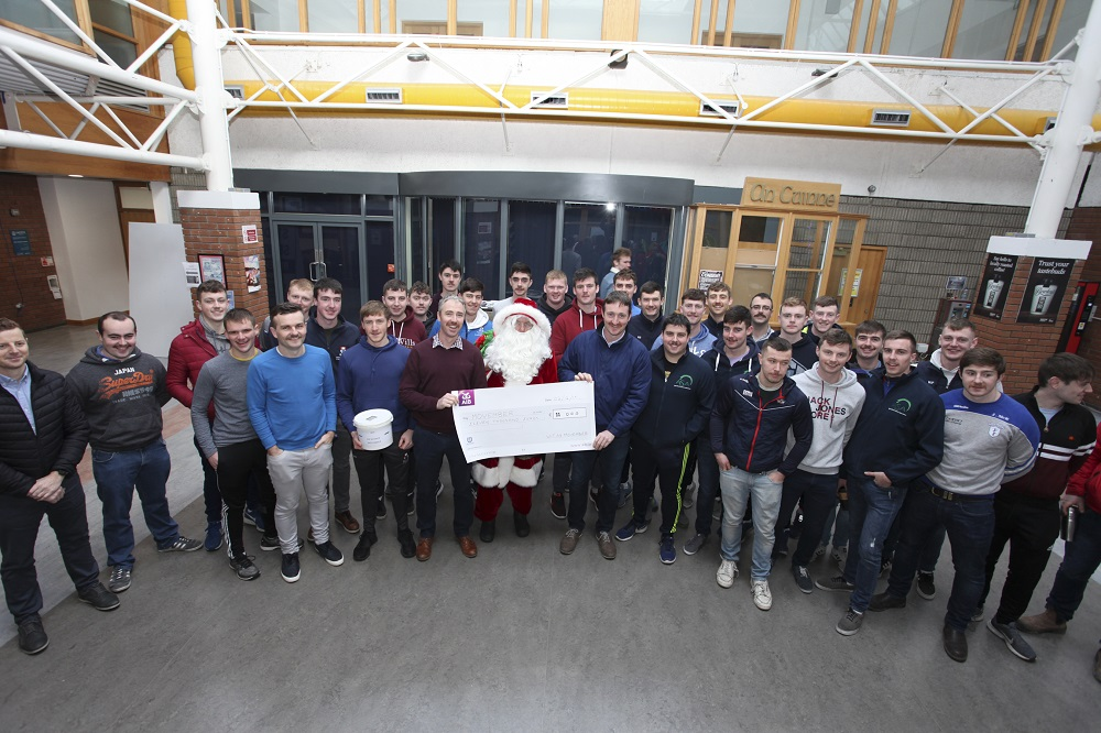 Staff and students from Agriculture and Agriculture Science raised €11,000 for Movember. Photo credit: George Goulding