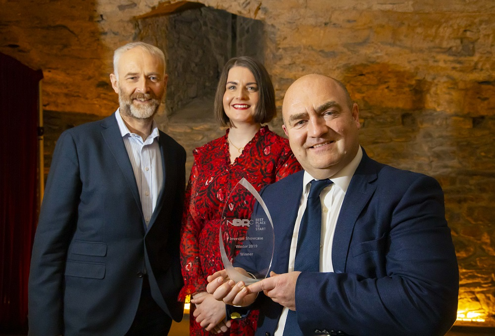 From left – Ben Hurley, CEO of NDRC; Dr Aisling O'Neill, ArcLabs Knowledge and Innovation Community Manager; Alex Martin, CEO of Miura RegTech. Image: Patrick Browne Photography