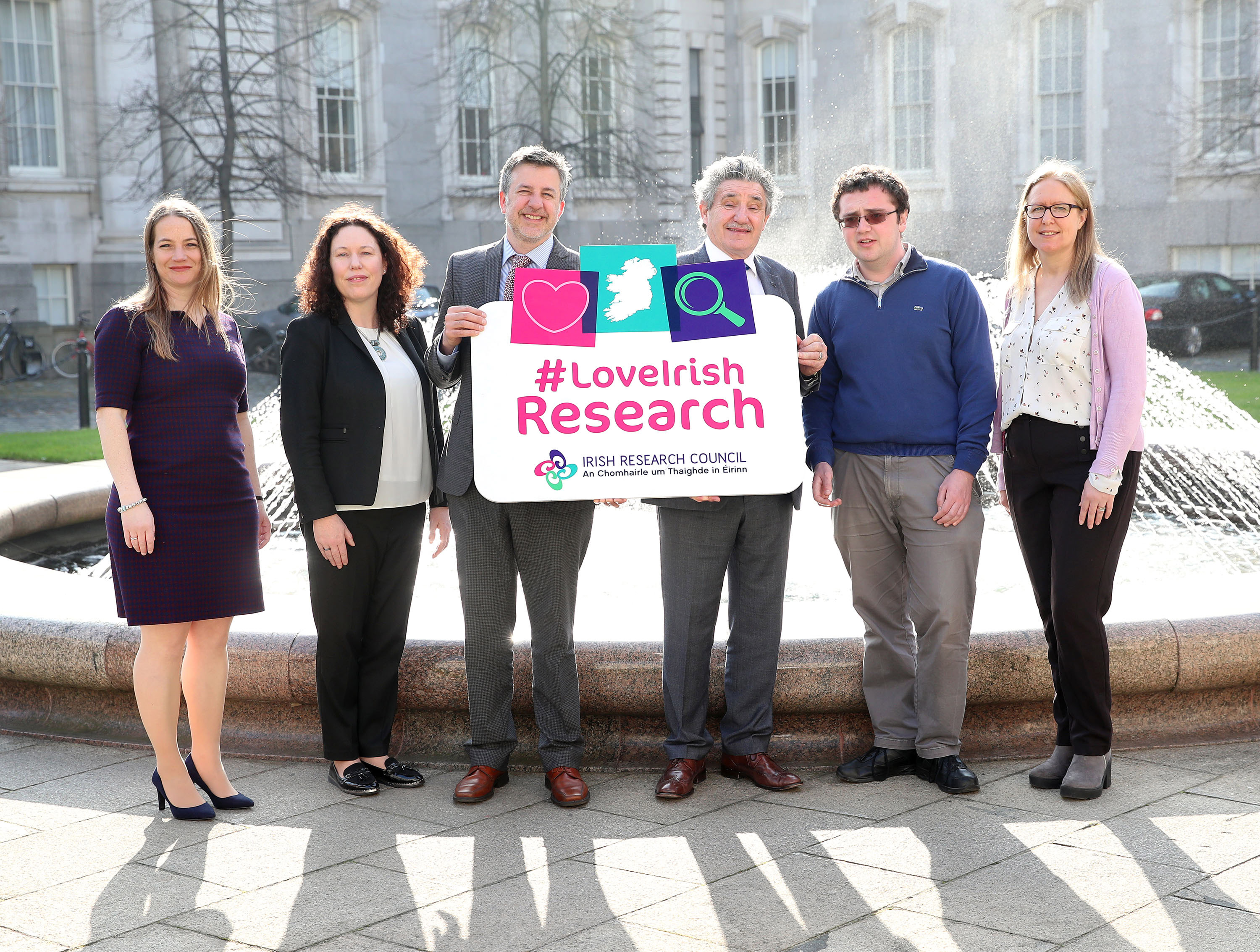 Pictured far right at the Irish Research Council funding announcement is WIT researcher Norah Storey