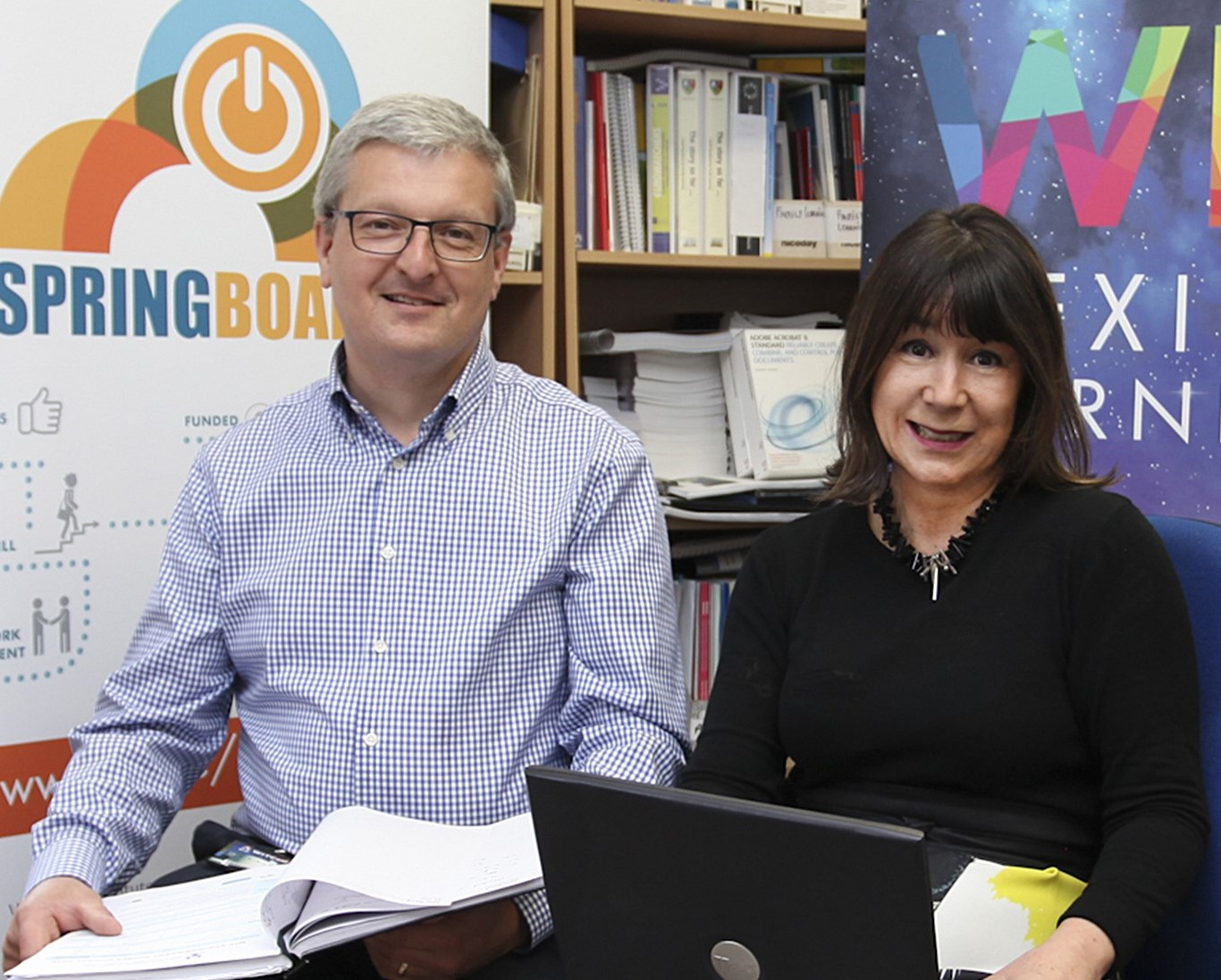 Pictured from left are: Neil Quinlan, Head of the Department of Lifelong Learning and Dr Helen Murphy, Head of the School of Education and Lifelong Learning in WIT