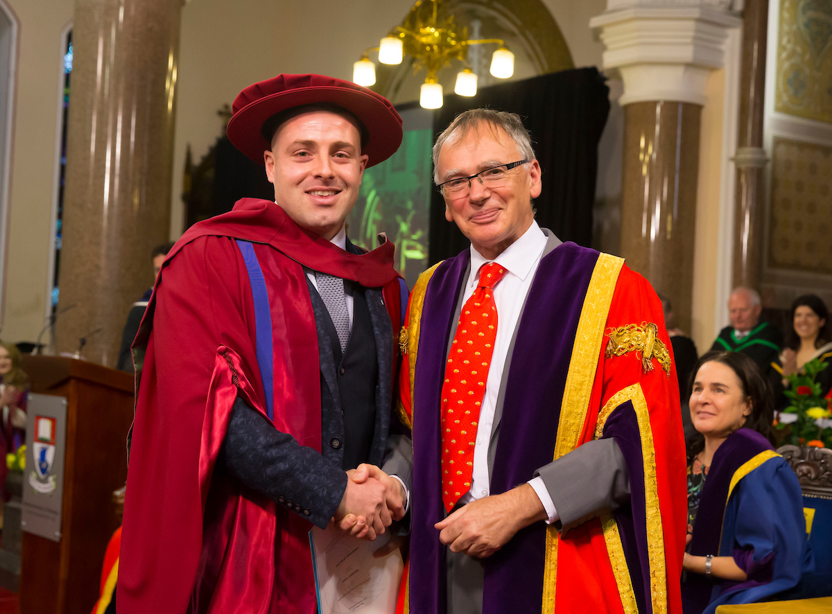 Pictured at Conferring is Dr Noel Connors and WIT President, Prof Willie Donnelly