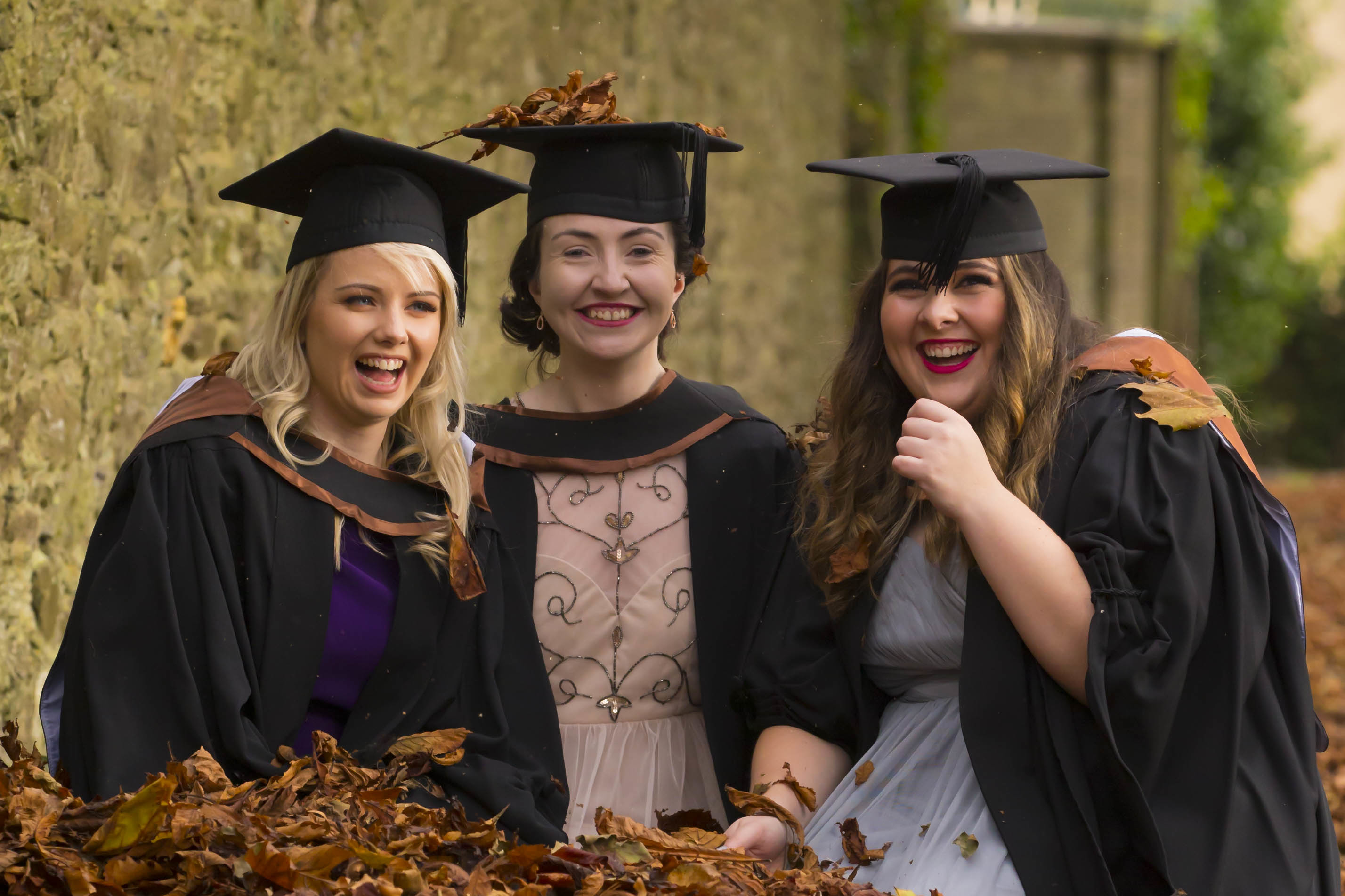 Pictured (centre) on graduation day is Orla Hayes with classmates