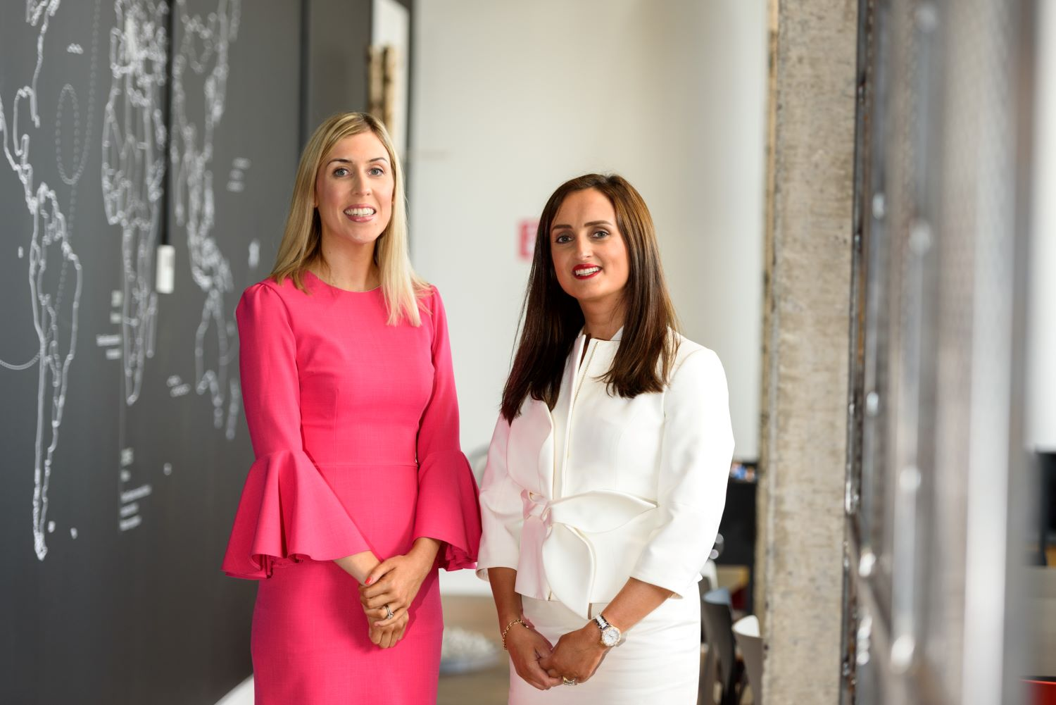 Pictured from left are Orlaith Ryan and her business partner Sharon Cunningham