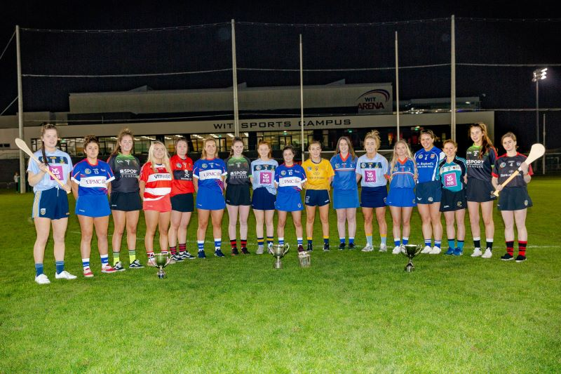 UPMC CCAO Third Level College Championship Launch 2019/2020 WIT Arena  Eadaoin Herlihy (UCD), Shauna Quirke (WIT), Kirsten Keenan (IT Carlow), Caleigh Boland (CIT),Chloe Sigerson (UCC), Joanne Dillion (WIT), Sara Cuddy (IT Carlow), Meabh Kennedy (UCD), Anna Graney (WIT), Ciara Phelan (DCU),Farren Byrne (Garda College), Lydia Fitzpatrick (UCD), Orla O Neill (Garda College), Orla Owen (MIC Thurles)