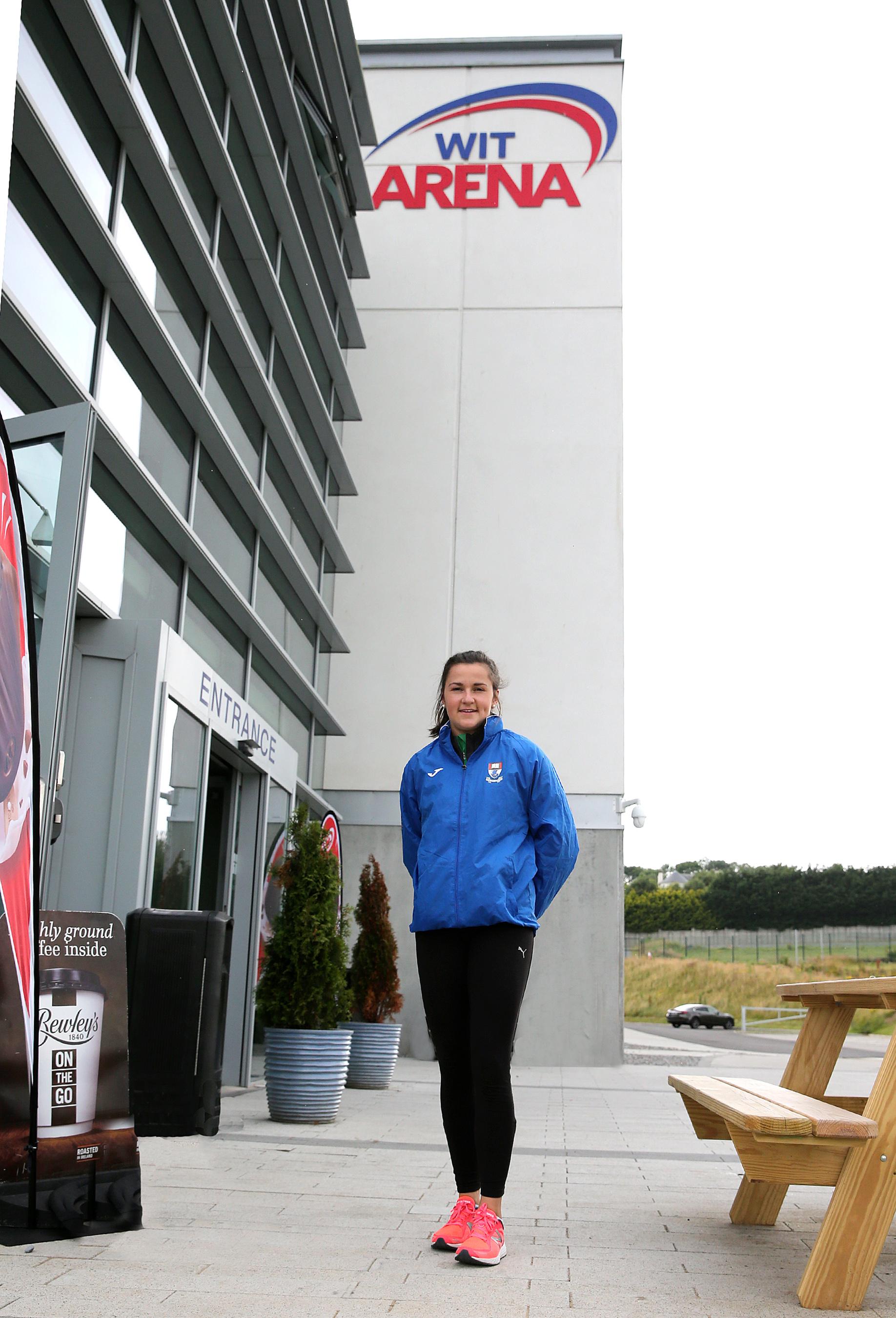 Irish International sprinter, Phil Healy in WIT Arena's High Performance Gym