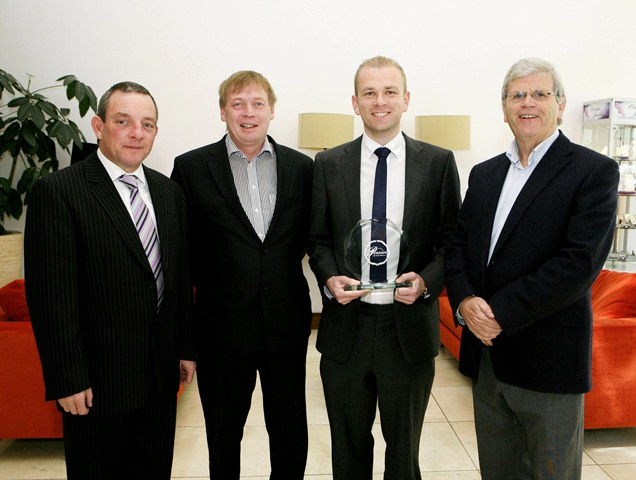 Jerry Buttimer T.D.; Pat Lemasney, Southern; Pio Fenton Cork Person of the Month; Manus O'Callaghan, Awards Organiser