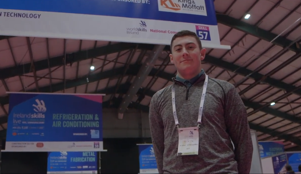Luke O'Keeffe from AB3, will represent Ireland in the World Skills competition in Kazan.