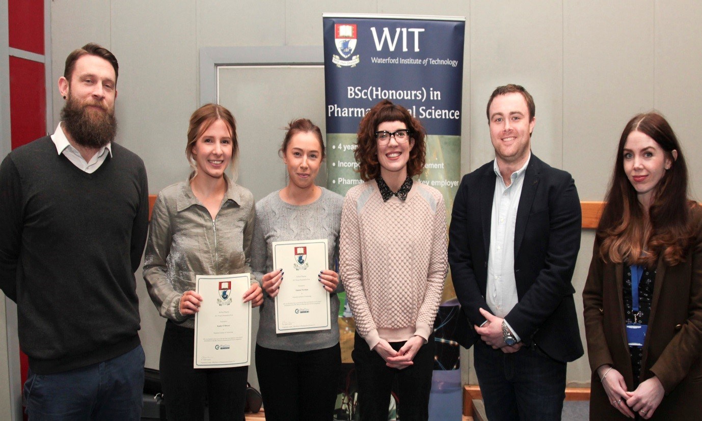 The BSc (Hons) in Pharmaceutical Science announced Alanna Norman and Emily O'Dwyer as Research Project Presentation Prize winners for 2017-2018.