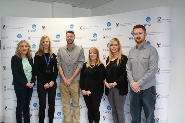 Pictured from L – R : Dr. Ethel Claffey, Paula Kavanagh Dunne, Tom Cronin, Sara Cosgrave, Kelly O' Dwyer and Gavin Hogan
