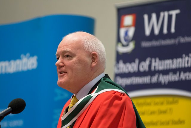 Prof Michael Howlett from Newbawn, Co. Wexford speaking at the WIT Professorial Public Lecture Series