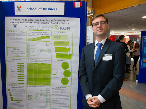Winner of Best Poster in the category of Business & Humanities,Tadhg Blommerde