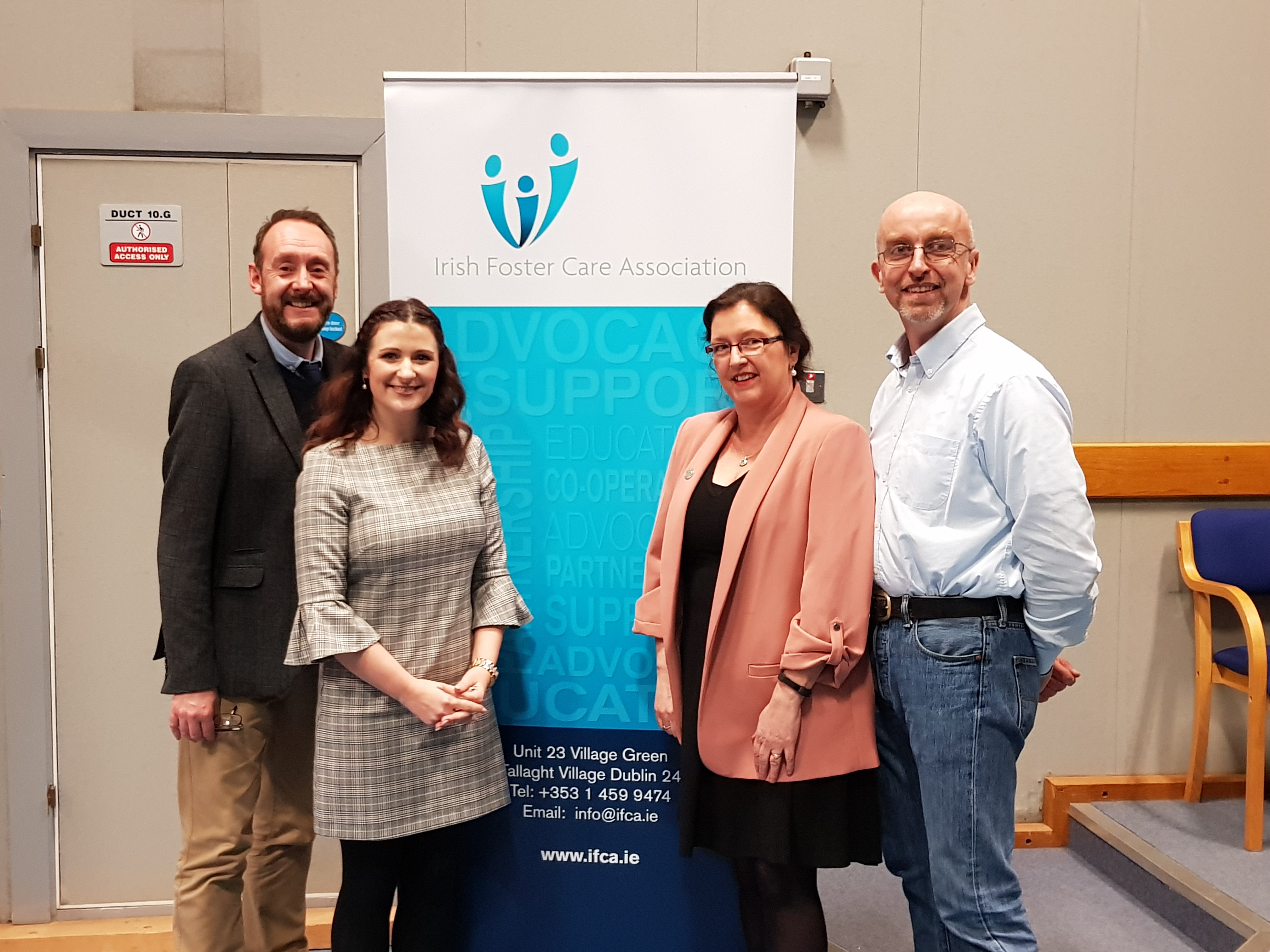 Pictured are: Peter O' Toole from IFCA/IAIA, Danielle Douglas, Dr Katherine Cagney and John Byrne all lecturers in the School of Humanities.