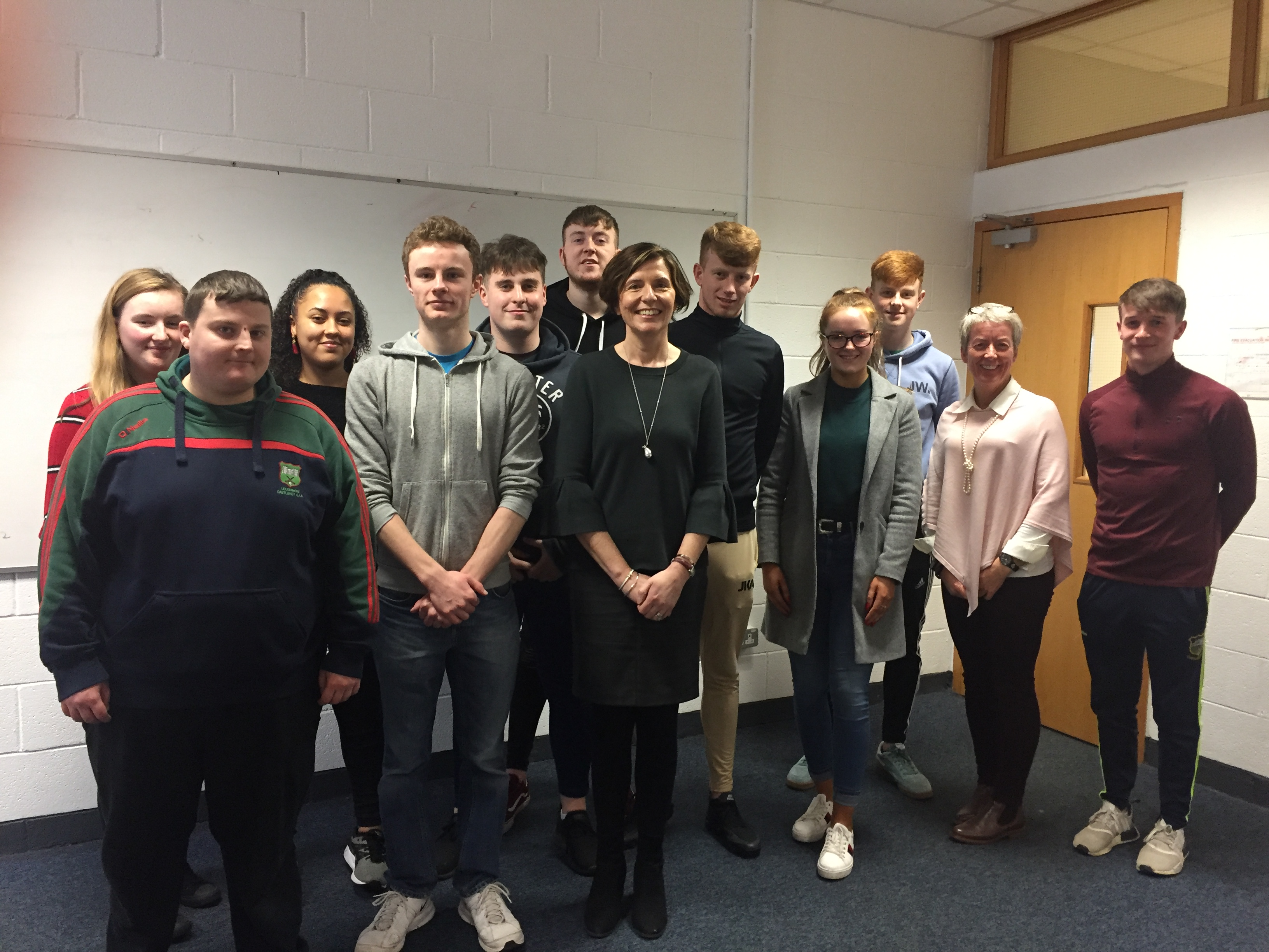 Sinead English, Hilt Career Management Services with students at her workshop 'Using social Media to maximize career opportunities