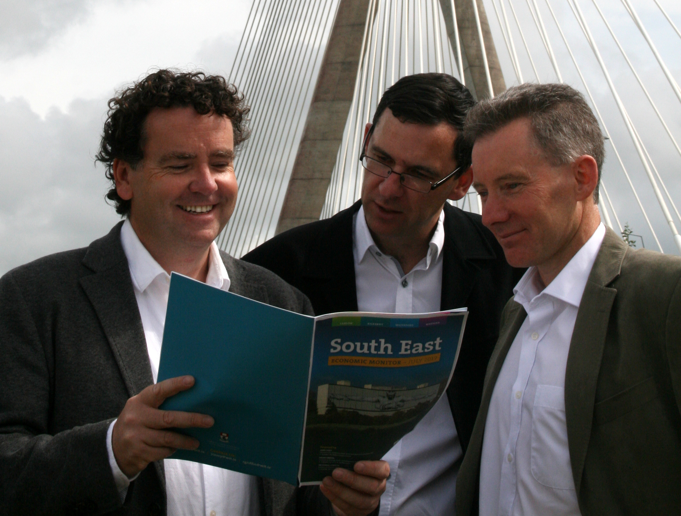 The South East Economic Monitor 2019 report authors (from left to right), Dr Ray Griffin, Dr Cormac O'Keeffe and Mr John Casey.
