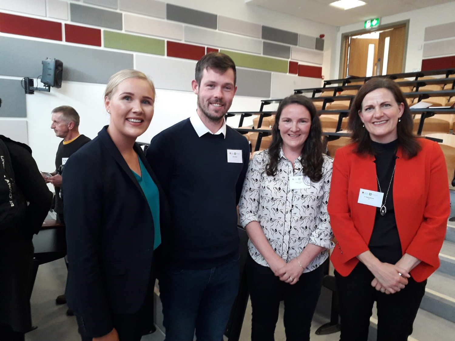 Oral and Poster prize winners Katie O'Toole and James Walters from the BSc in Agricultural Science at WIT with the supervisors Dr Denise O'Meara and Dr Nabla Kennedy