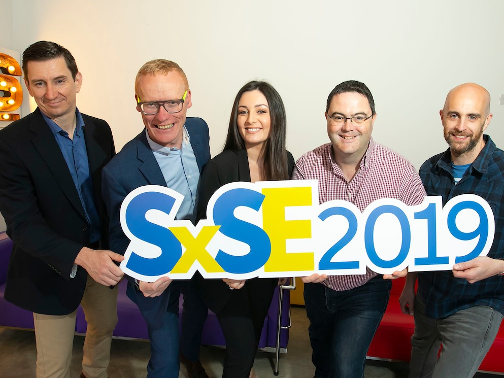 Left to right: Pierre Peiclier, IT Director, Sun Life Financial, Colin Donnery, General Manager, FRS Recruitment, Aoife O'Brien, Global Head of Recruitment, Taxback Group, Mike Kelliher, Director, Threefold Systems, Ray Carroll, Technical Architect, Vhi