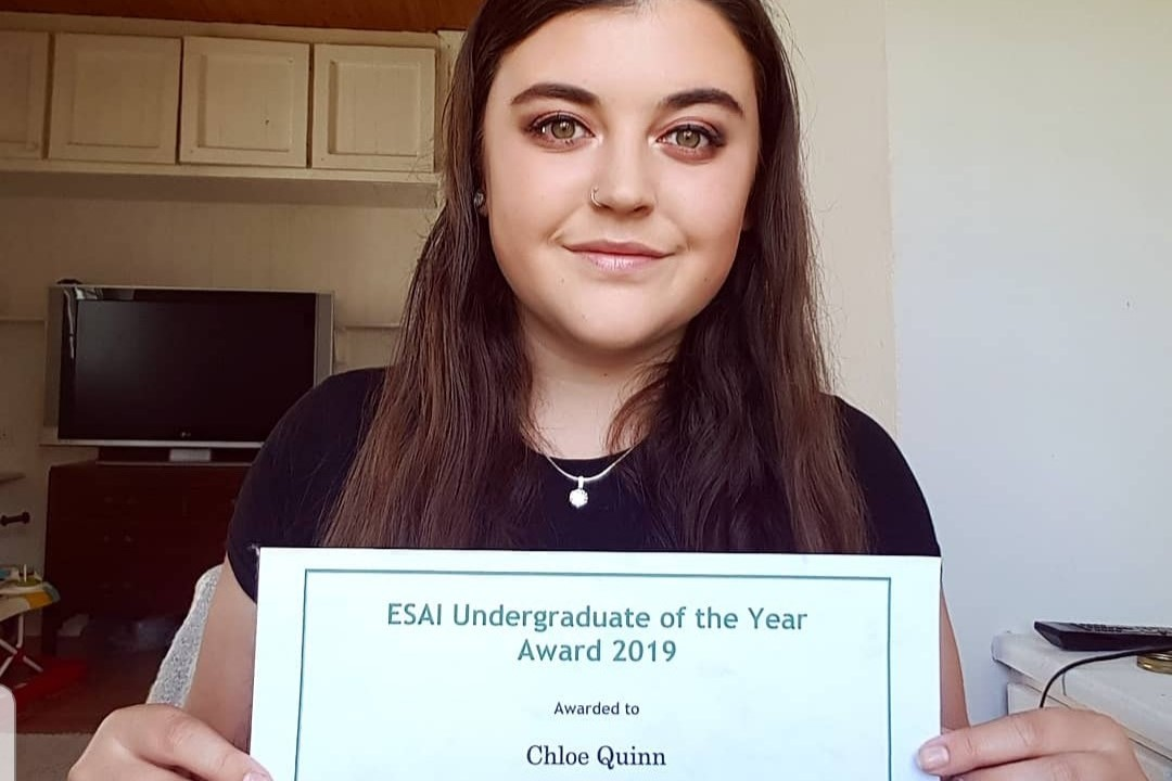 The Environmental Science Association of Ireland (ESAI) Undergraduate of the Year Awards are for the best Level 7 and Level 8 student undertaking an environmental research final year project.