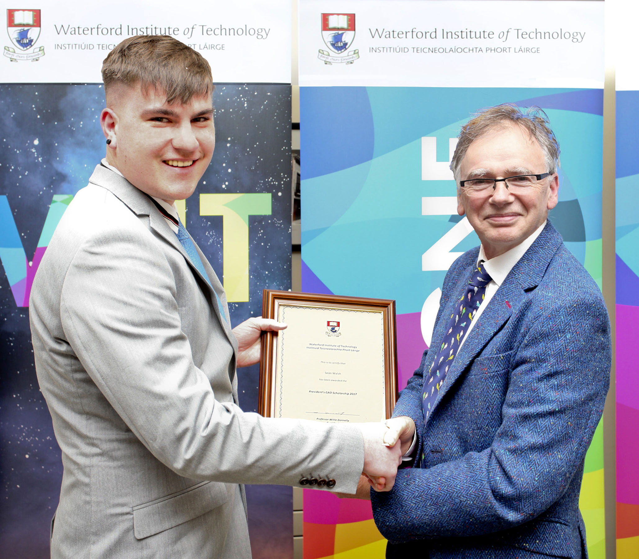 Bachelor of Business Studies (Hons) student Seán Walsh is one of five President's Scholarship recipients for 2017