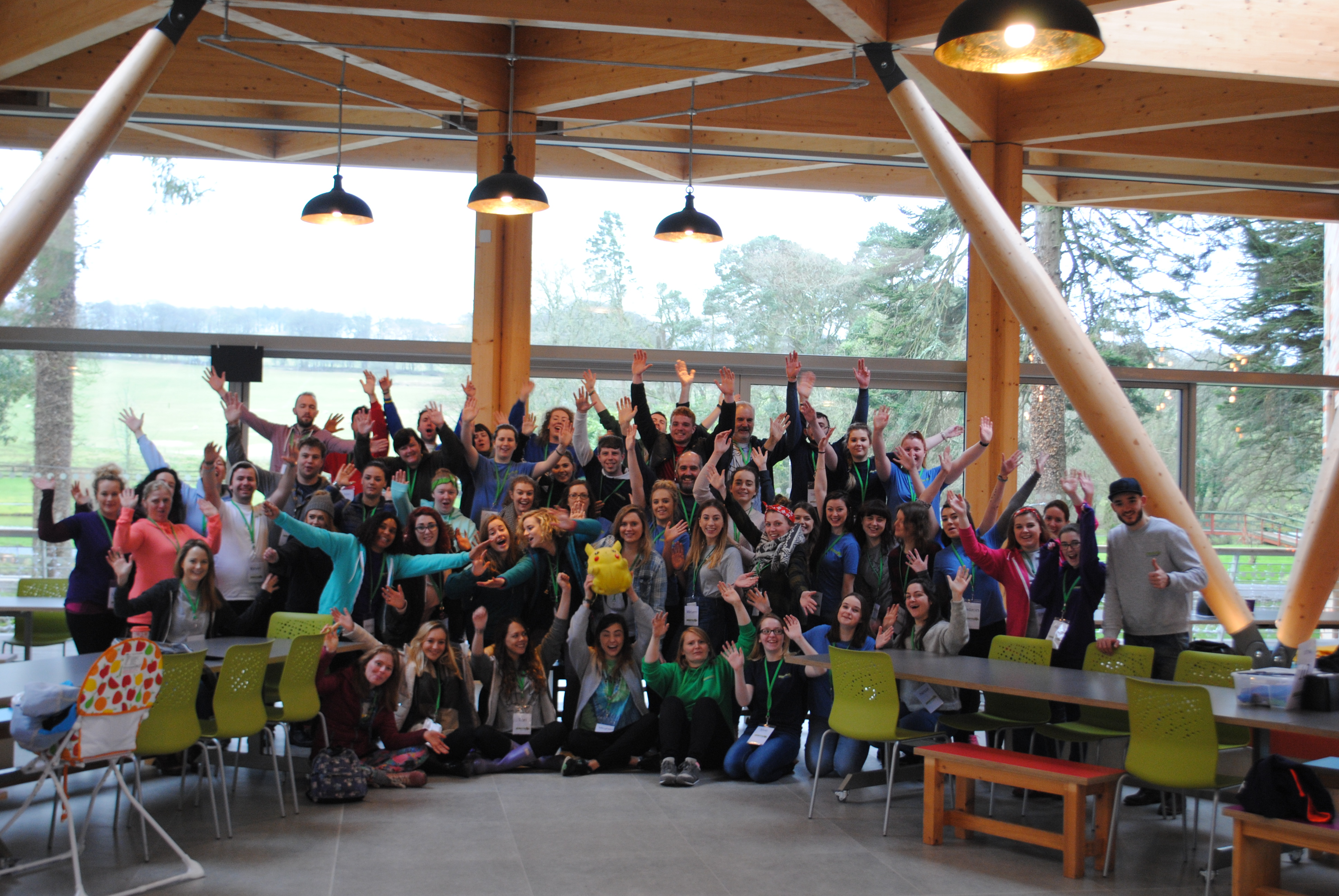 The DSES students during their Barretstown experience