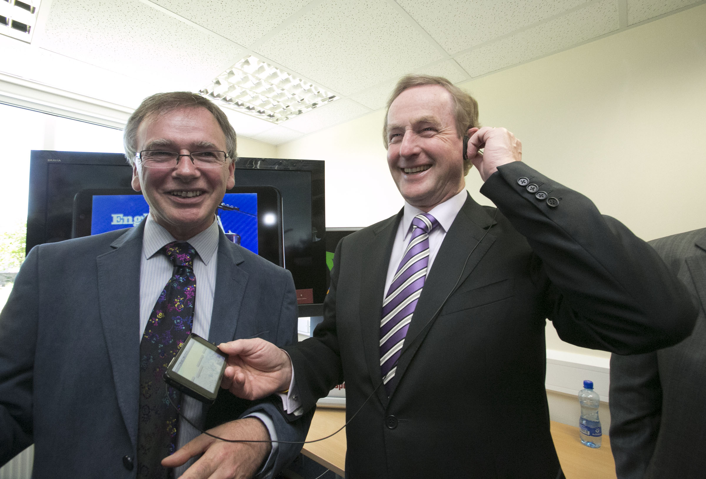 Pictured at the opening are: Dr. Willie Donnelly, Head of Research at WIT and An Taoiseach, Mr. Enda Kenny T.D.