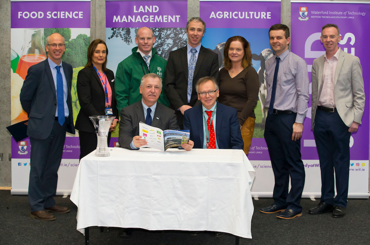 Waterford Institute of Technology and Teagasc marked 40 years of partnership at a Land Sciences Careers event for WIT students at the WIT Arena. The programmes the two collaborate on span right across the board from agrifood, to forestry, and horticulture. Pictured is Gerry Boyle, Director of Teagasc and President of WIT Prof Willie Donnelly. Picture: Patrick Browne