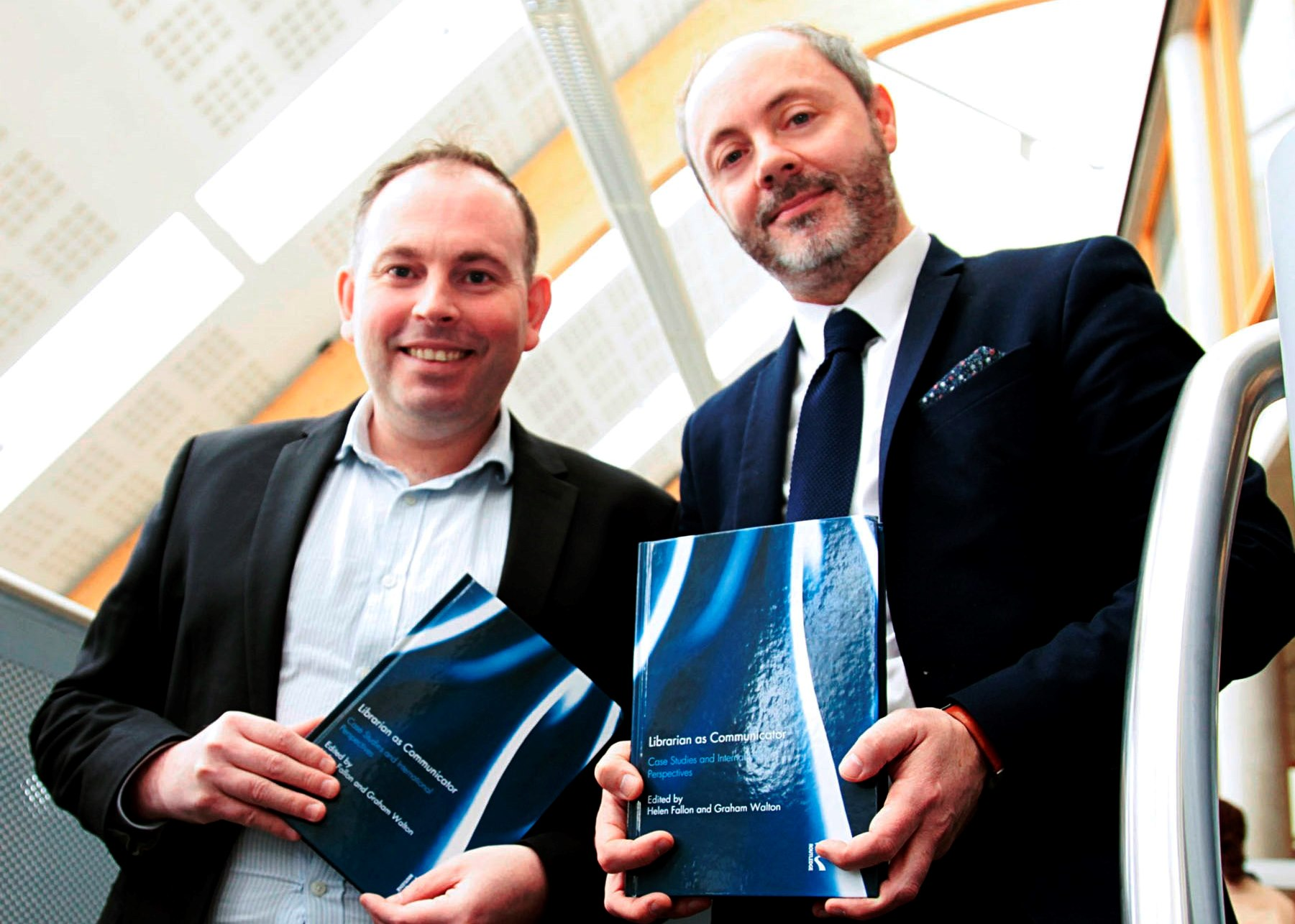 Pictured from left at WIT Libraries are from left Kieran Cronin and Terry O'Brien