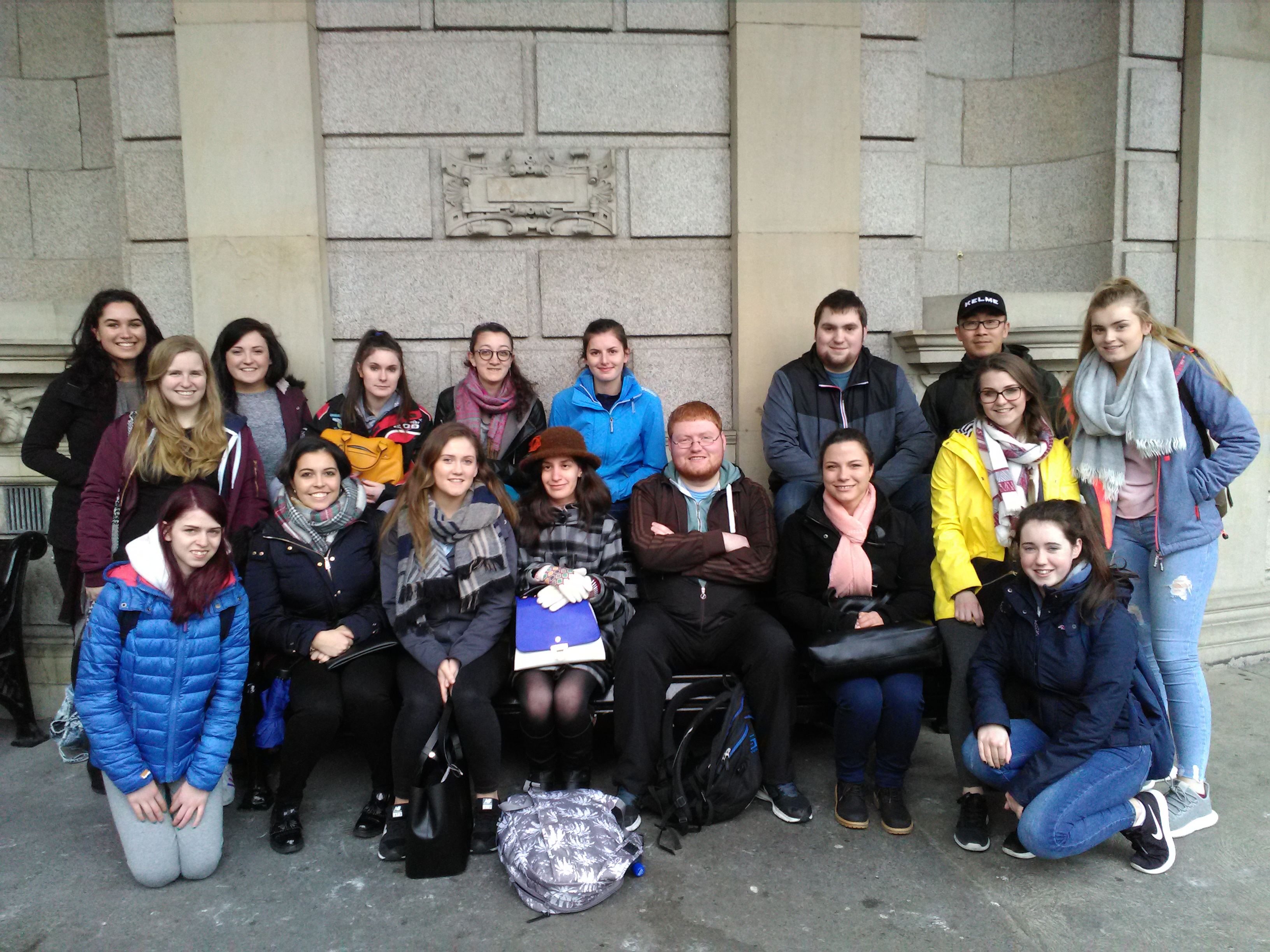 Tourism Students on field trip to Dublin