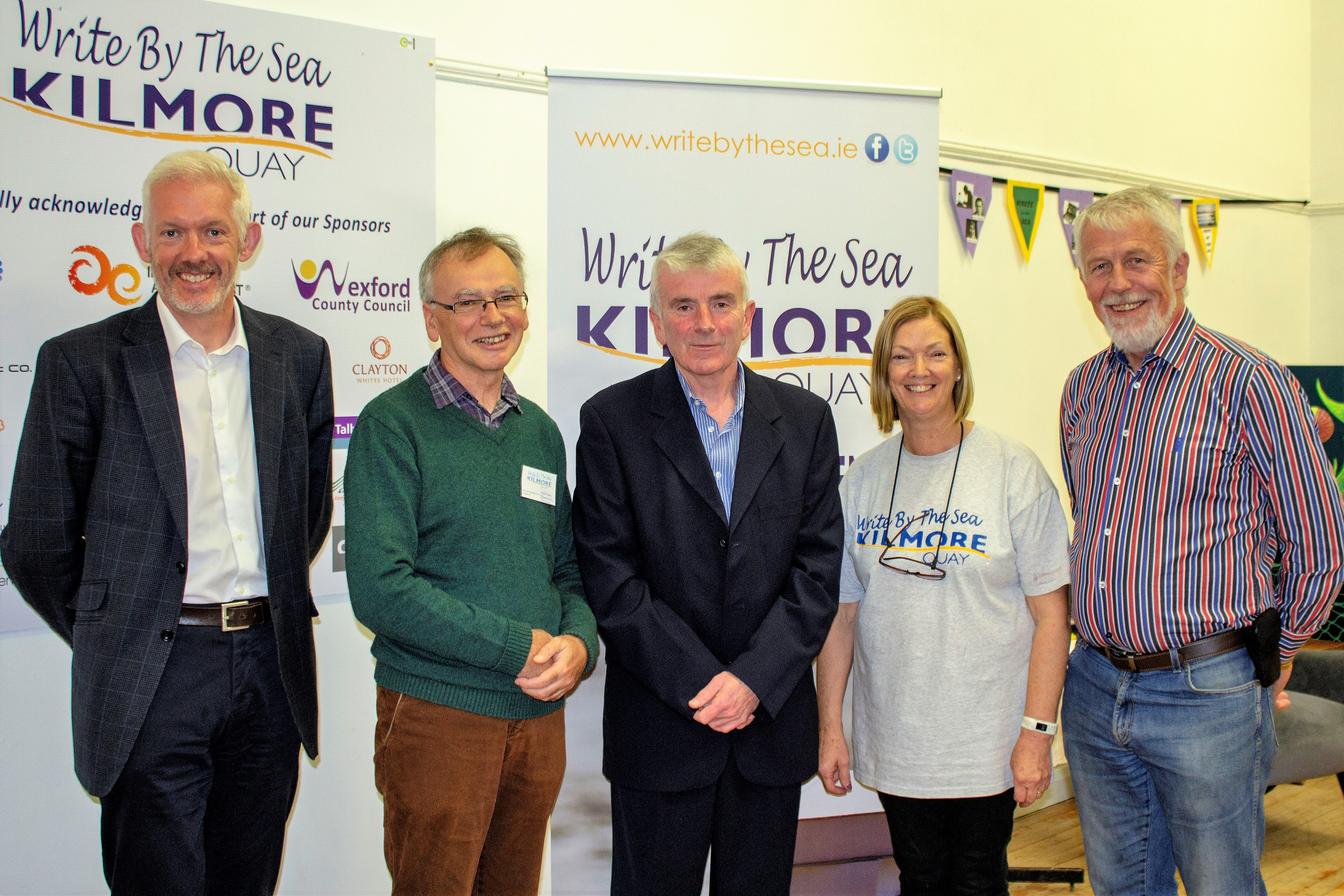 Pictured in Kilmore Quay are - WIT Head of Strategy Dr Richard Hayes, WIT President Prof Willie Donnelly, Jim Nolan, WIT Governing Body Chair  Lucy Moore, Jim Moore